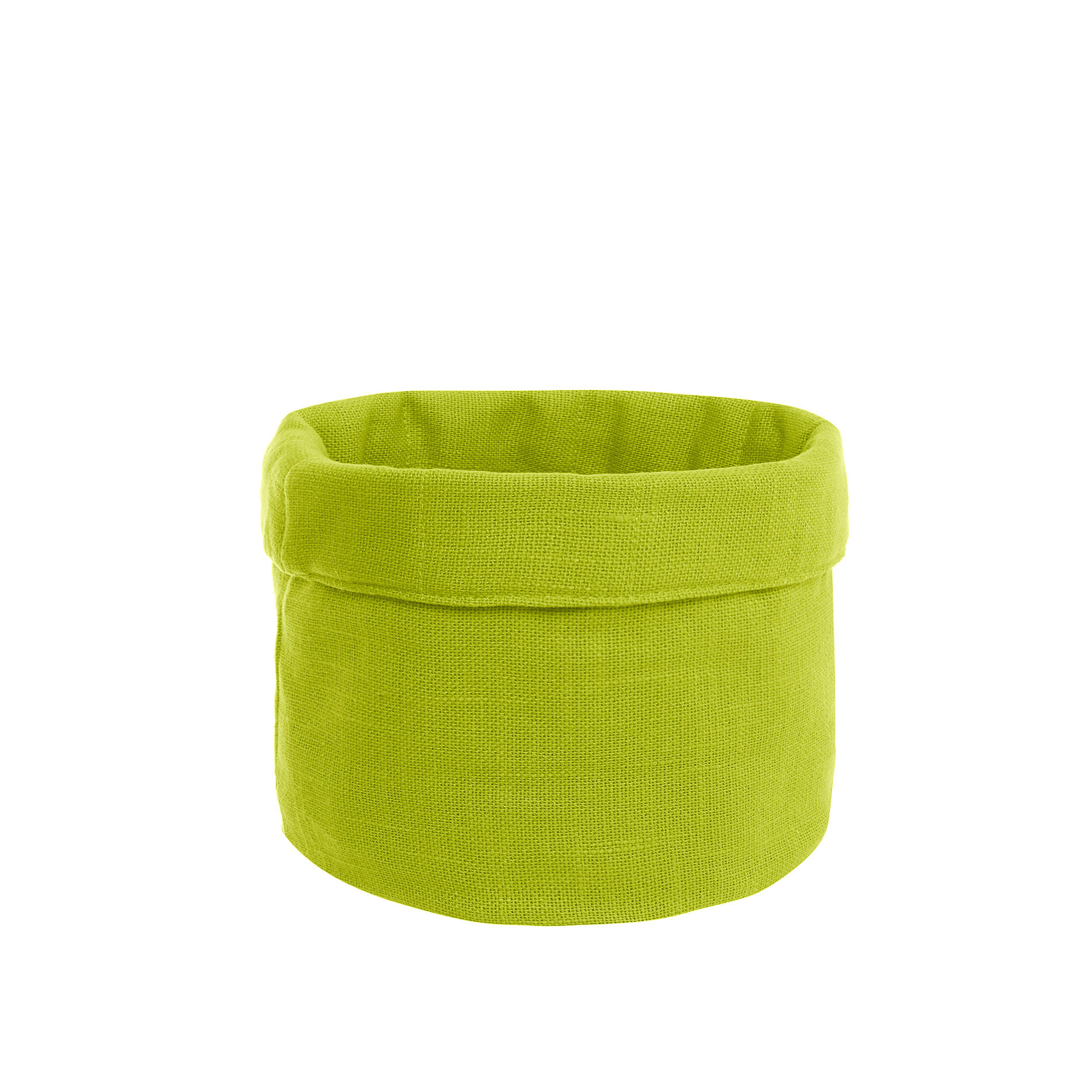Cestino puro cotone fiammato, Verde mela, large image number 0