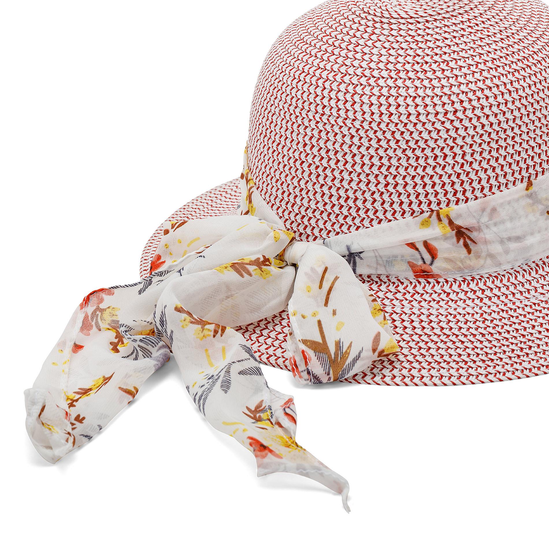 Cappello di paglia multicolor Koan, Bianco, large image number 1