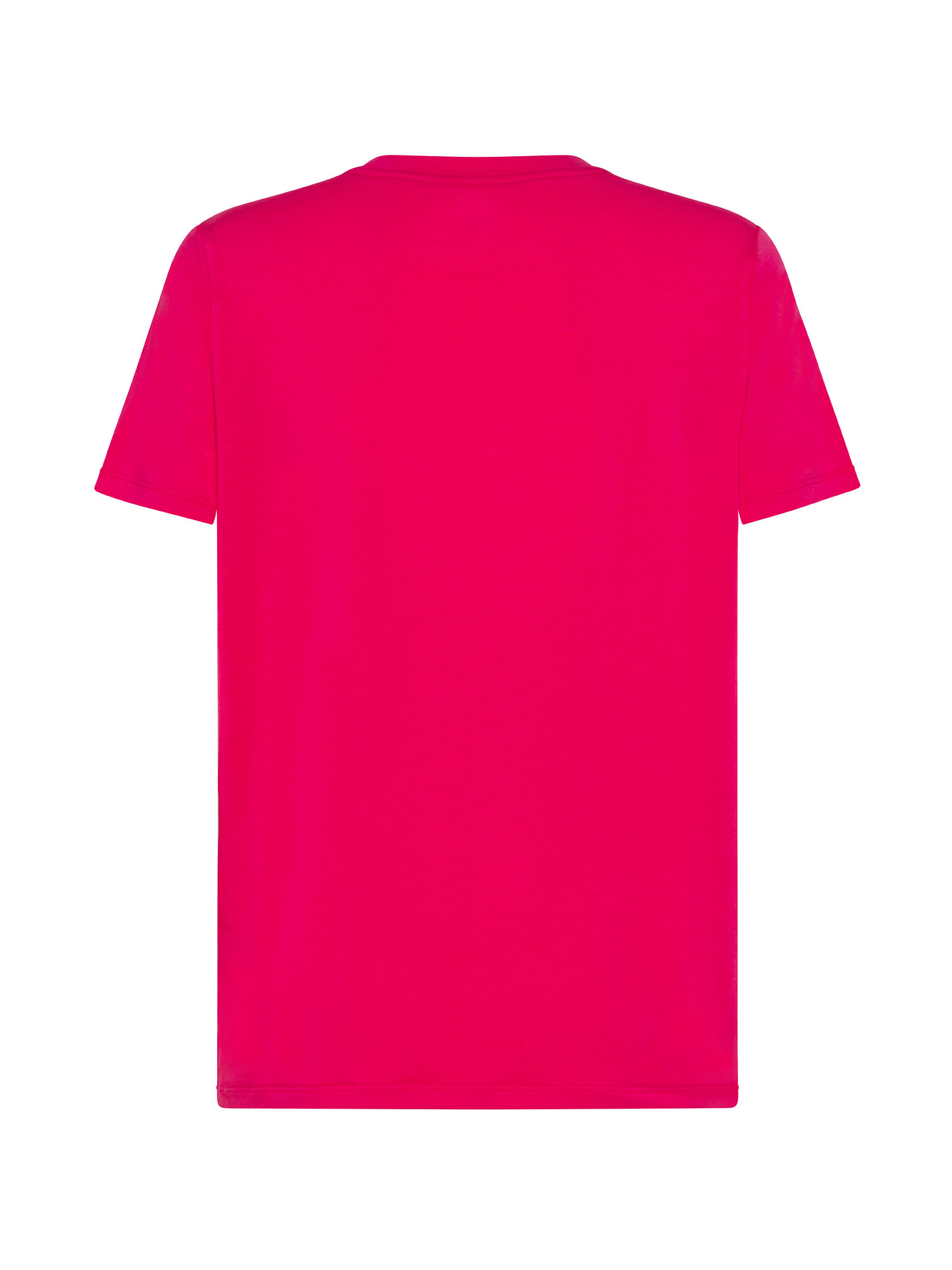 T-shirt con logo two tone, Rosso, large image number 1