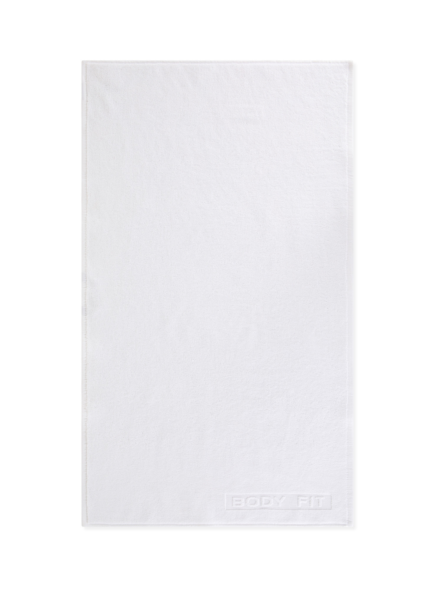 Asciugamano capelli spugna di cotone tinta unita, Bianco, large image number 1