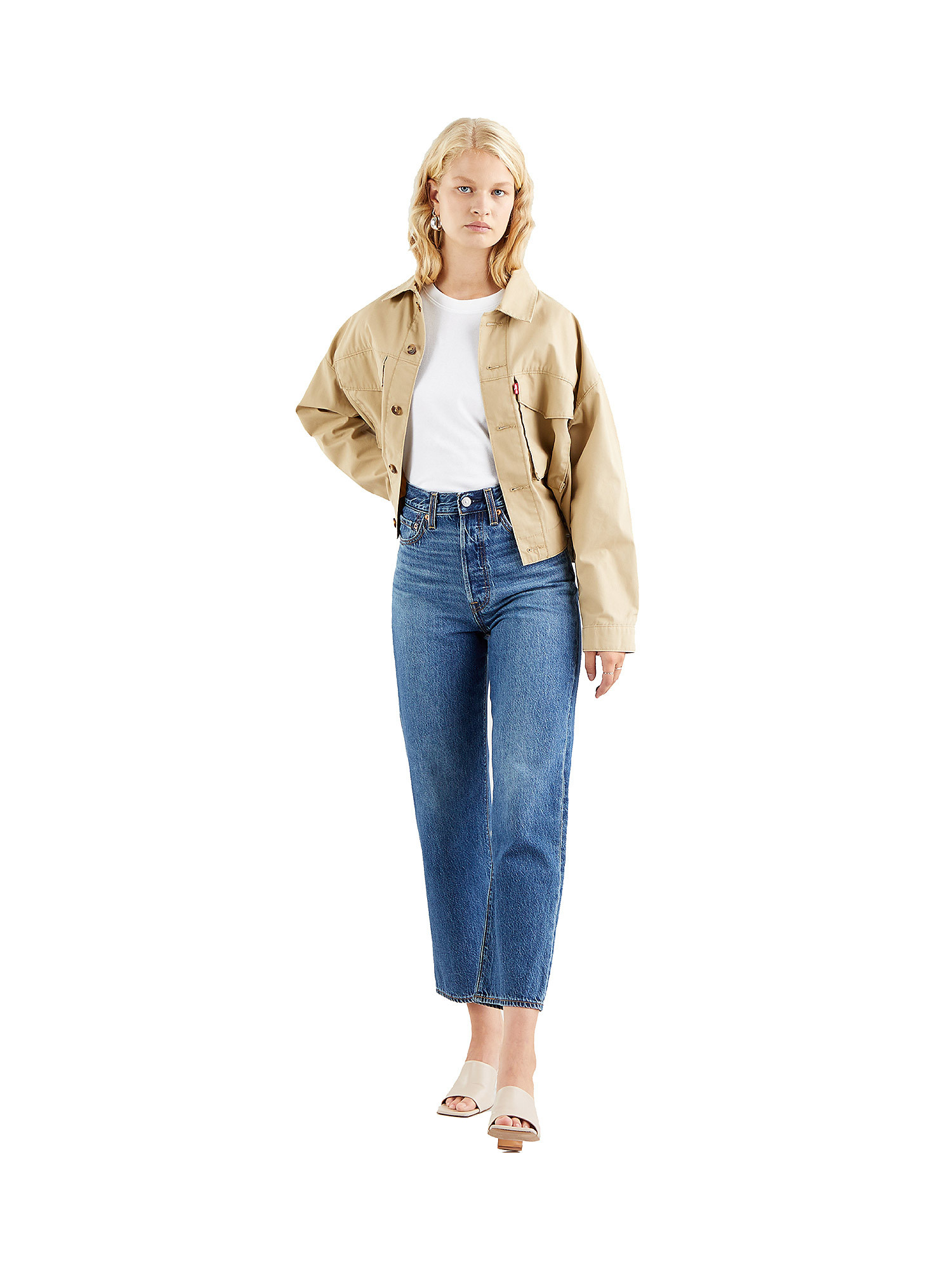 Jeans donna ribcage straight ankle, Denim, large image number 2