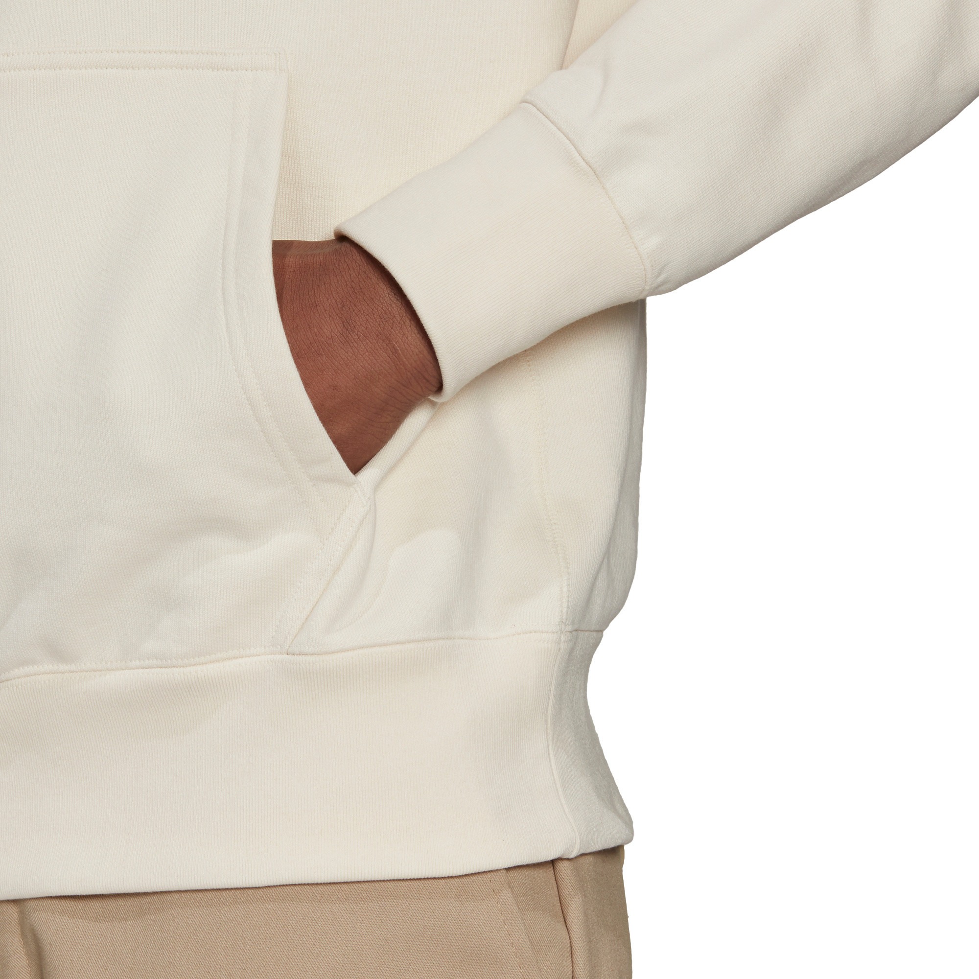 Felpa con cappuccio adicolor Premium, Bianco panna, large image number 3