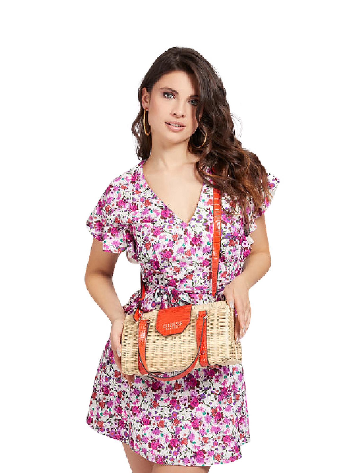 Paloma Satchel Bag, Arancione, large image number 2