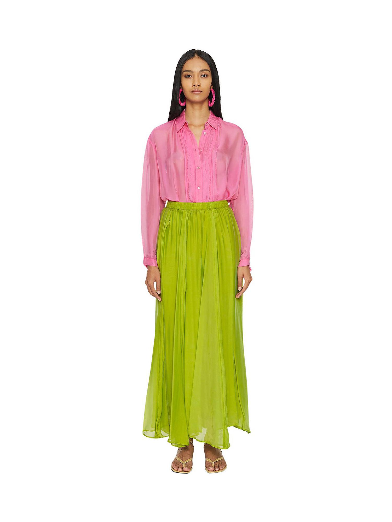 Camicia in chiffon Vanilla, Rosa fuxia, large image number 1