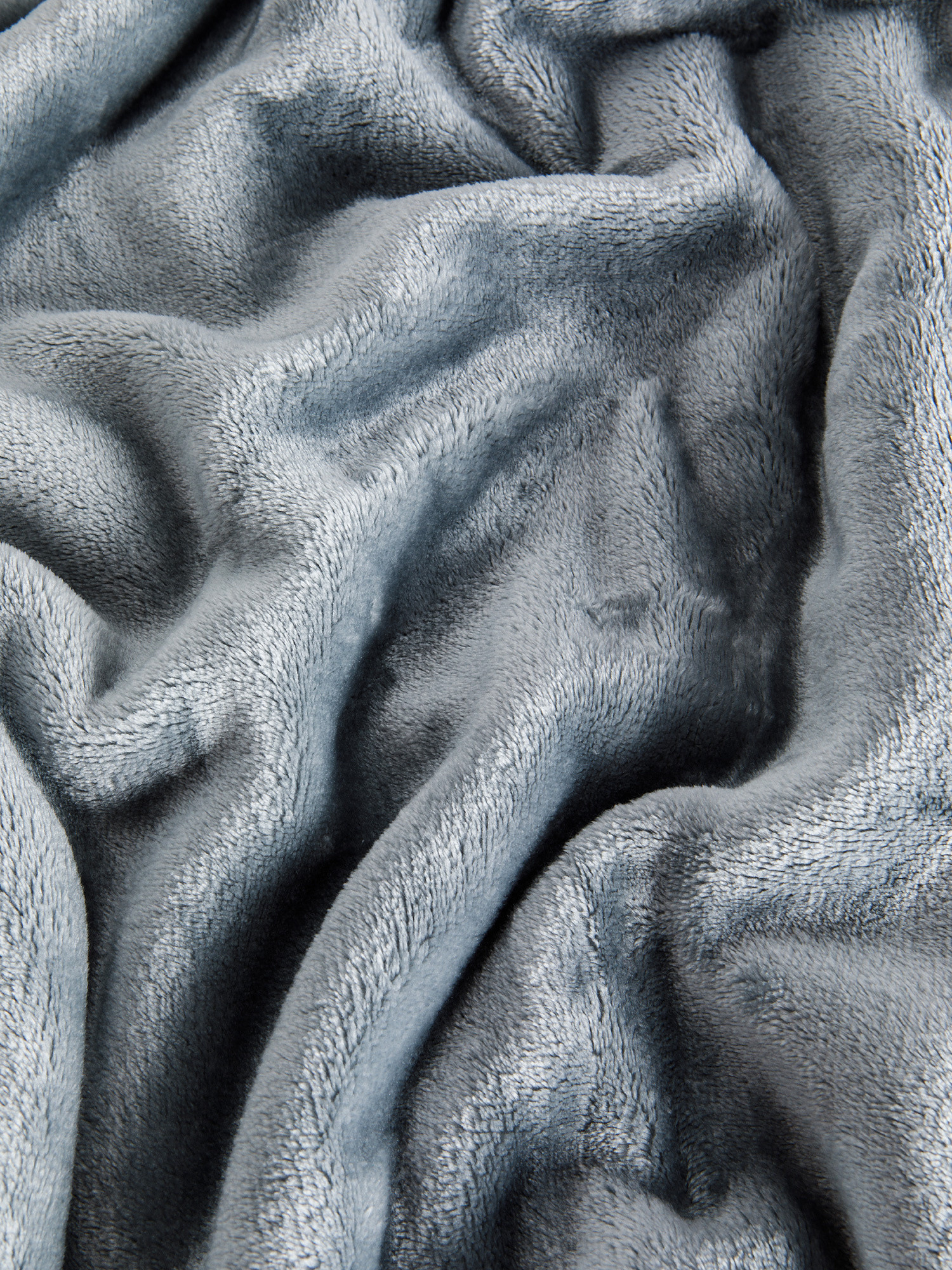 Maxi plaid pile tinta unita, Grigio, large image number 1
