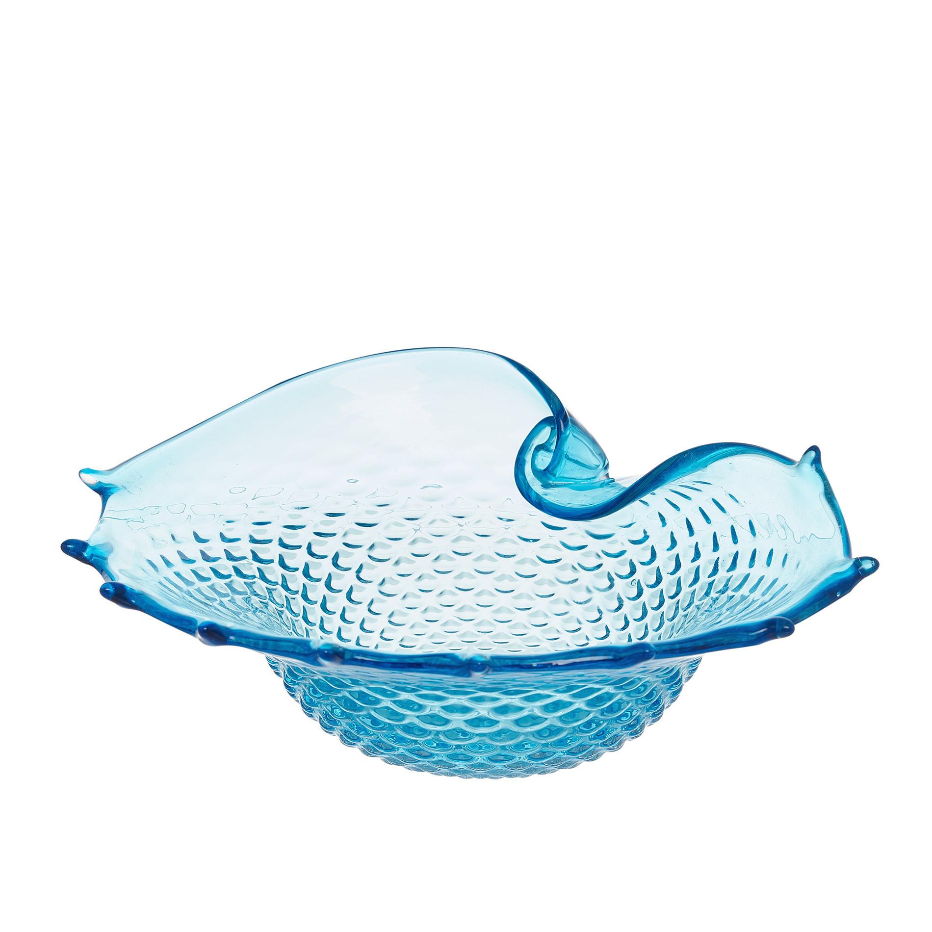 Conchiglia decorativa vetro colorato in pasta, Trasparente, large image number 1