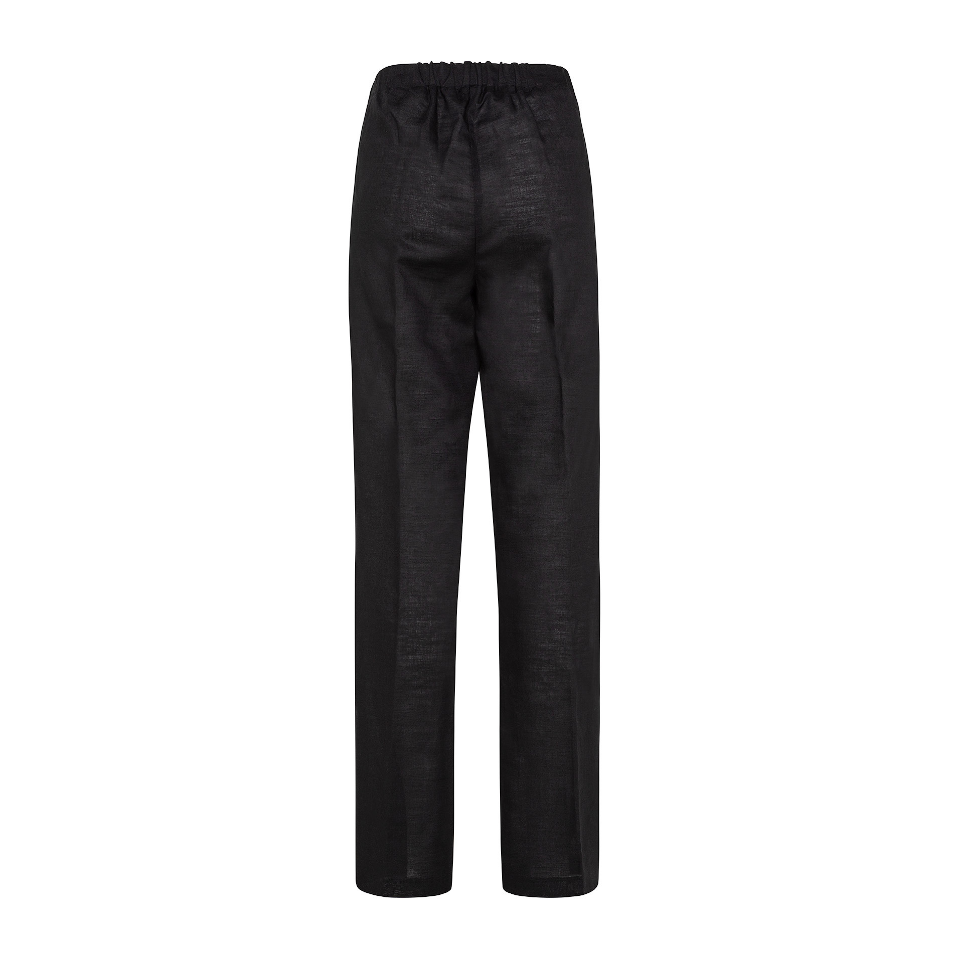 Pantalone misto lino con elastico Koan, Nero, large image number 1