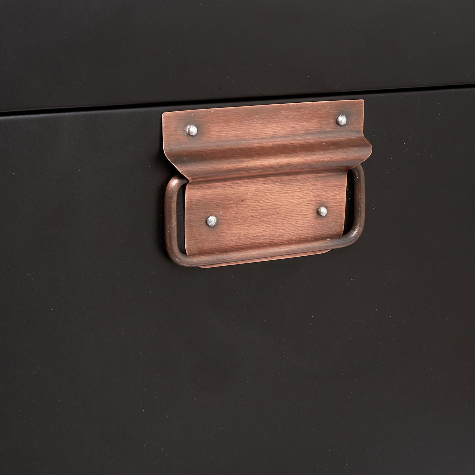 Valigia decorativa in ferro fatta a mano, Bianco, large image number 4