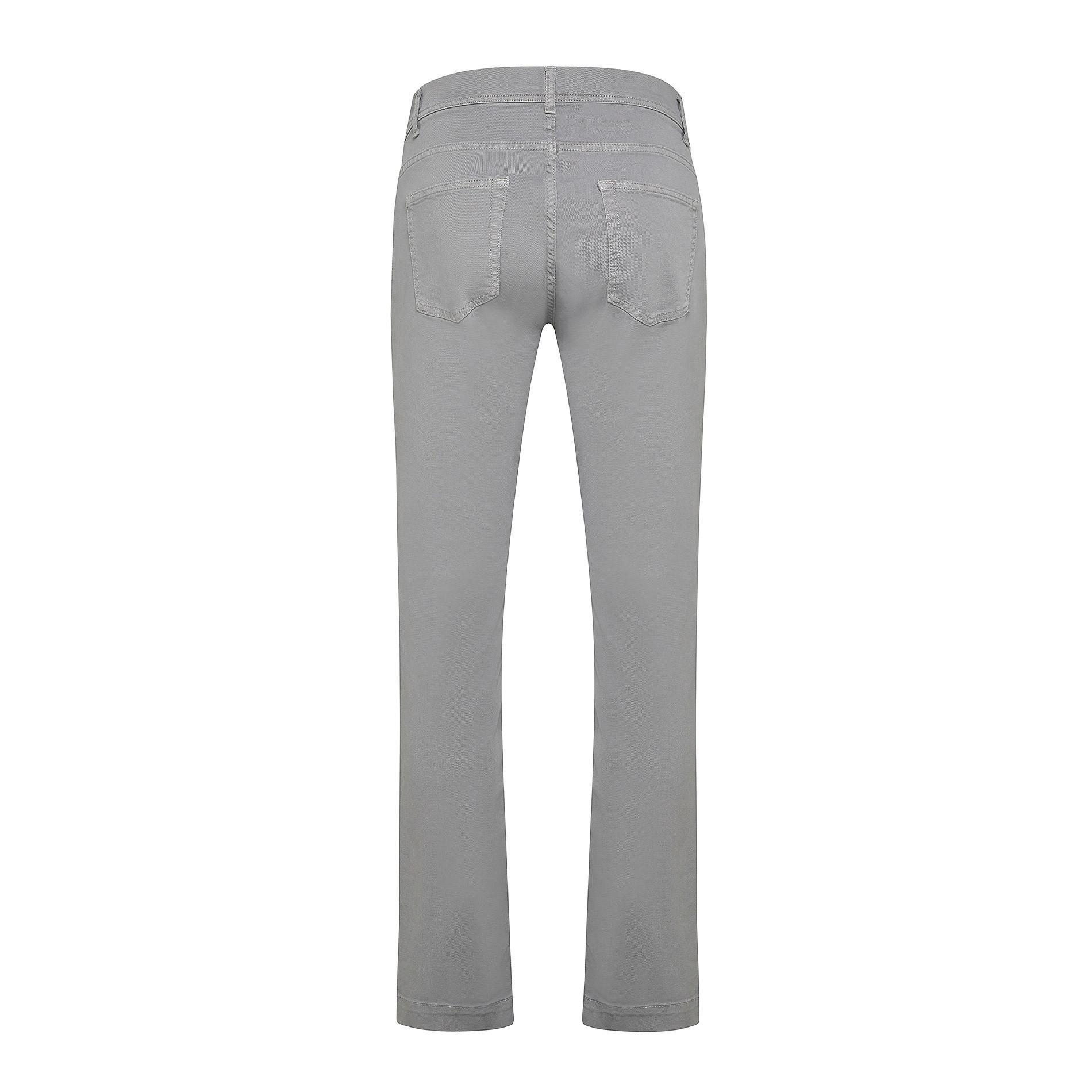 Pantalone cotone stretch 5 tasche JCT, Grigio chiaro, large image number 1
