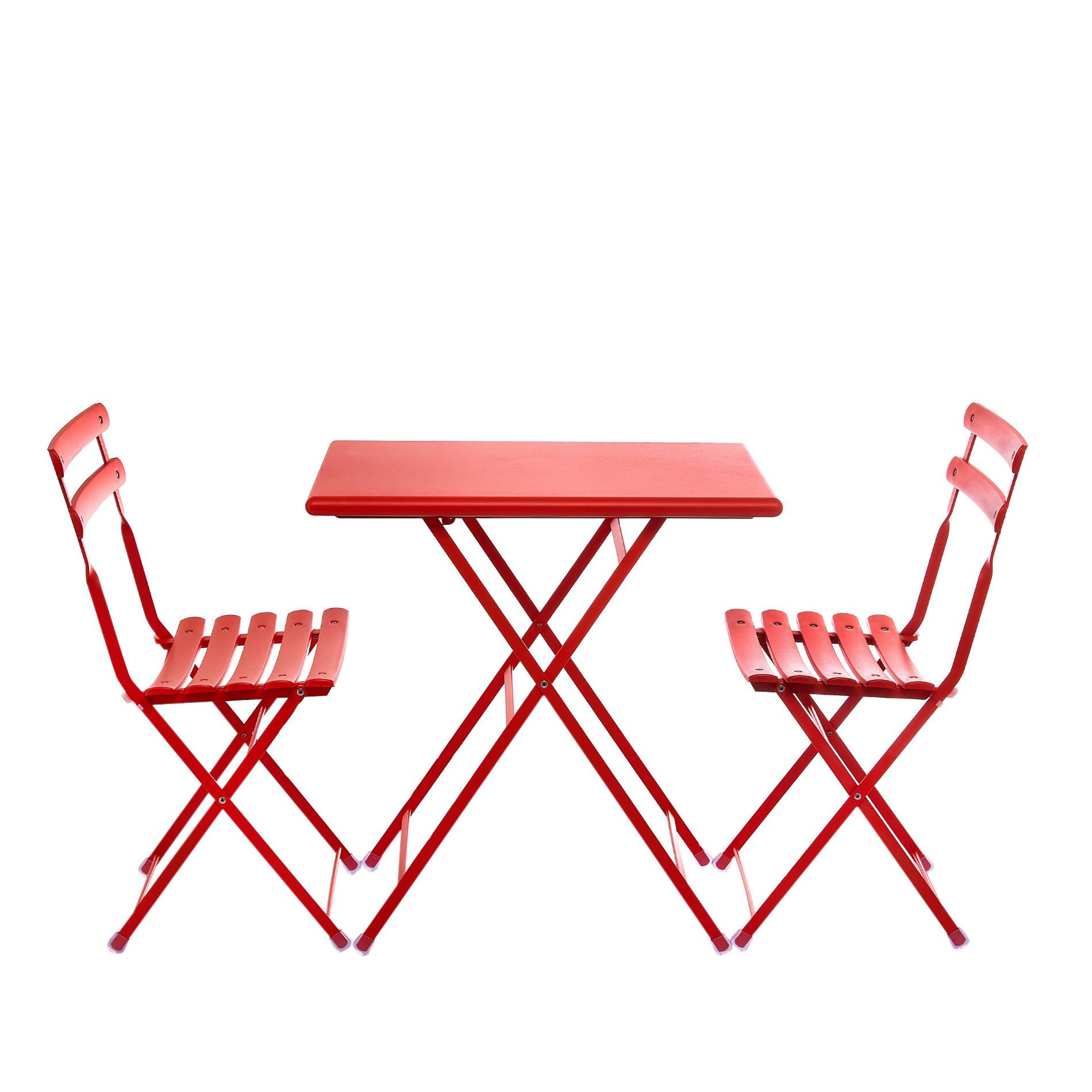 EMU Set tavolo e 2 sedie pieghevoli Arc en Ciel, Rosso, large image number 0
