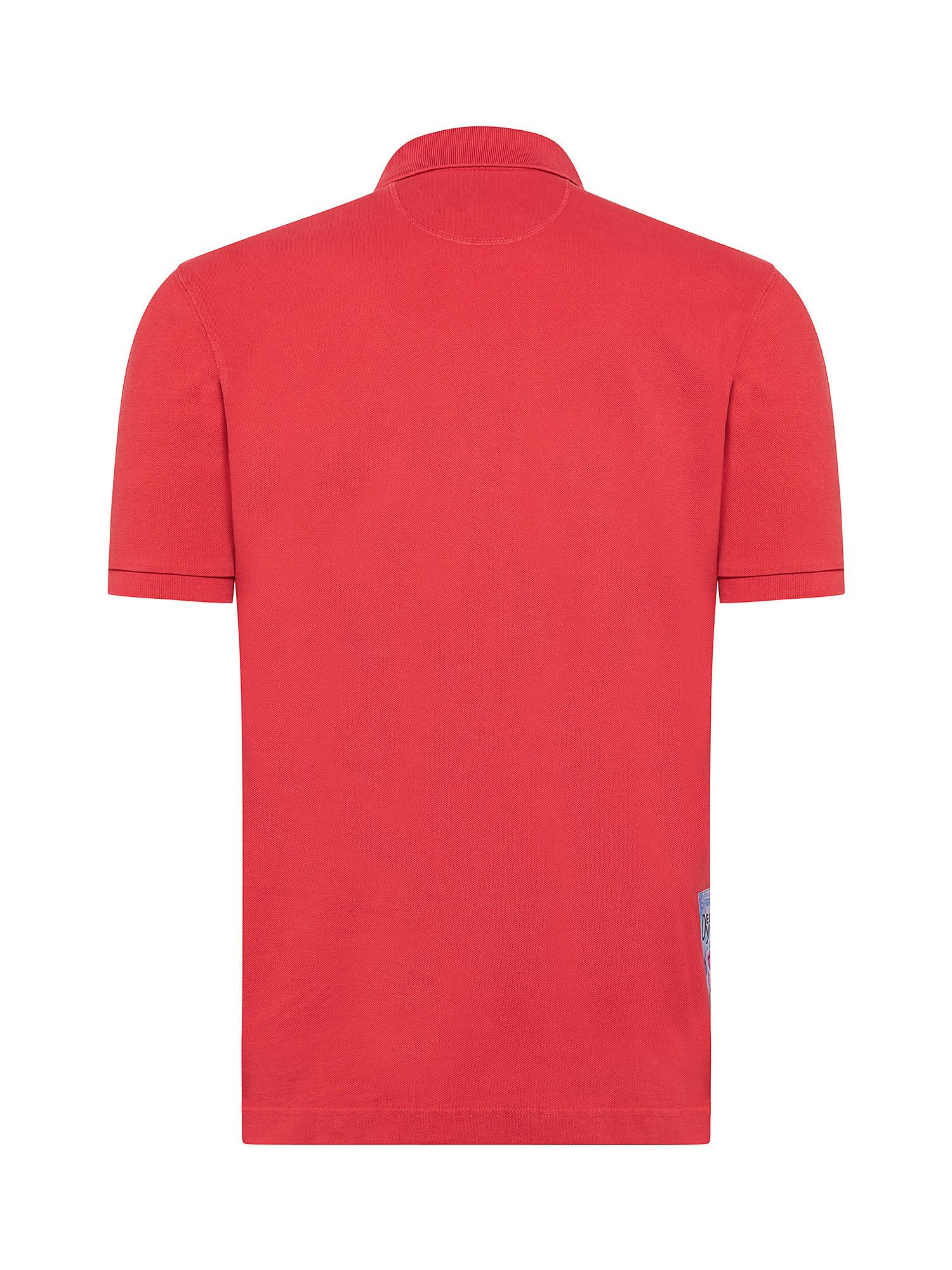 Polo da uomo a maniche corte in cotone regular fit, Rosso mattone, large image number 1