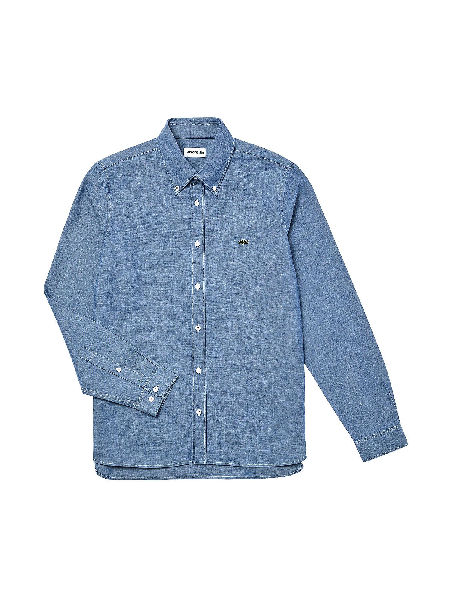 Camicia da uomo slim fit in cotone, Denim, large image number 0