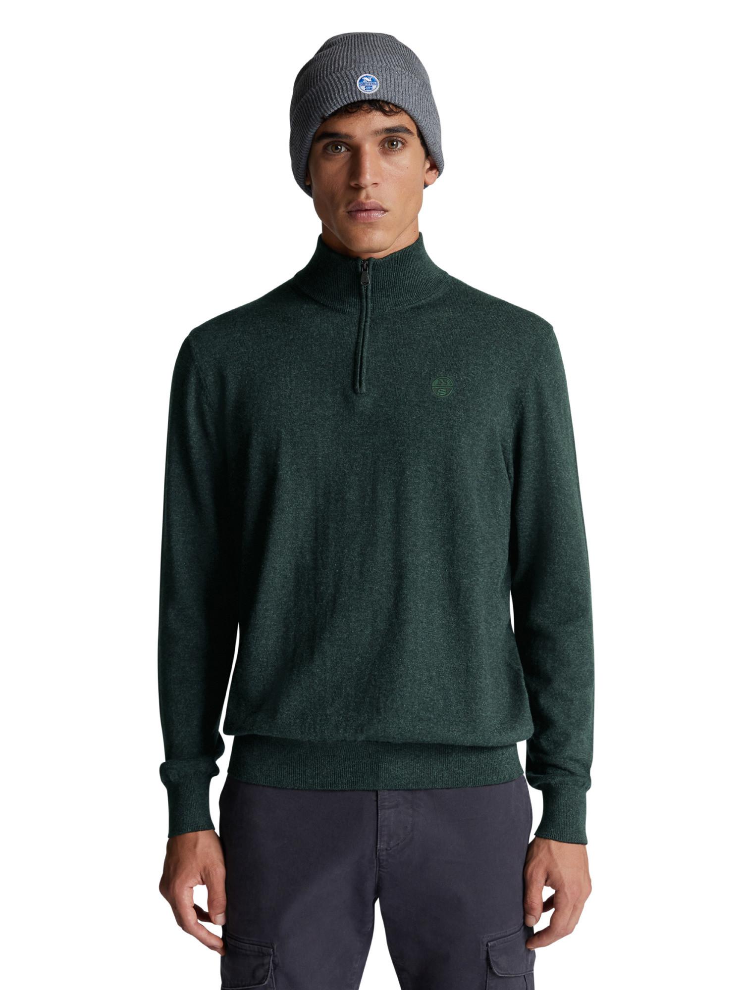 Maglione con scollo a V, Verde, large image number 1