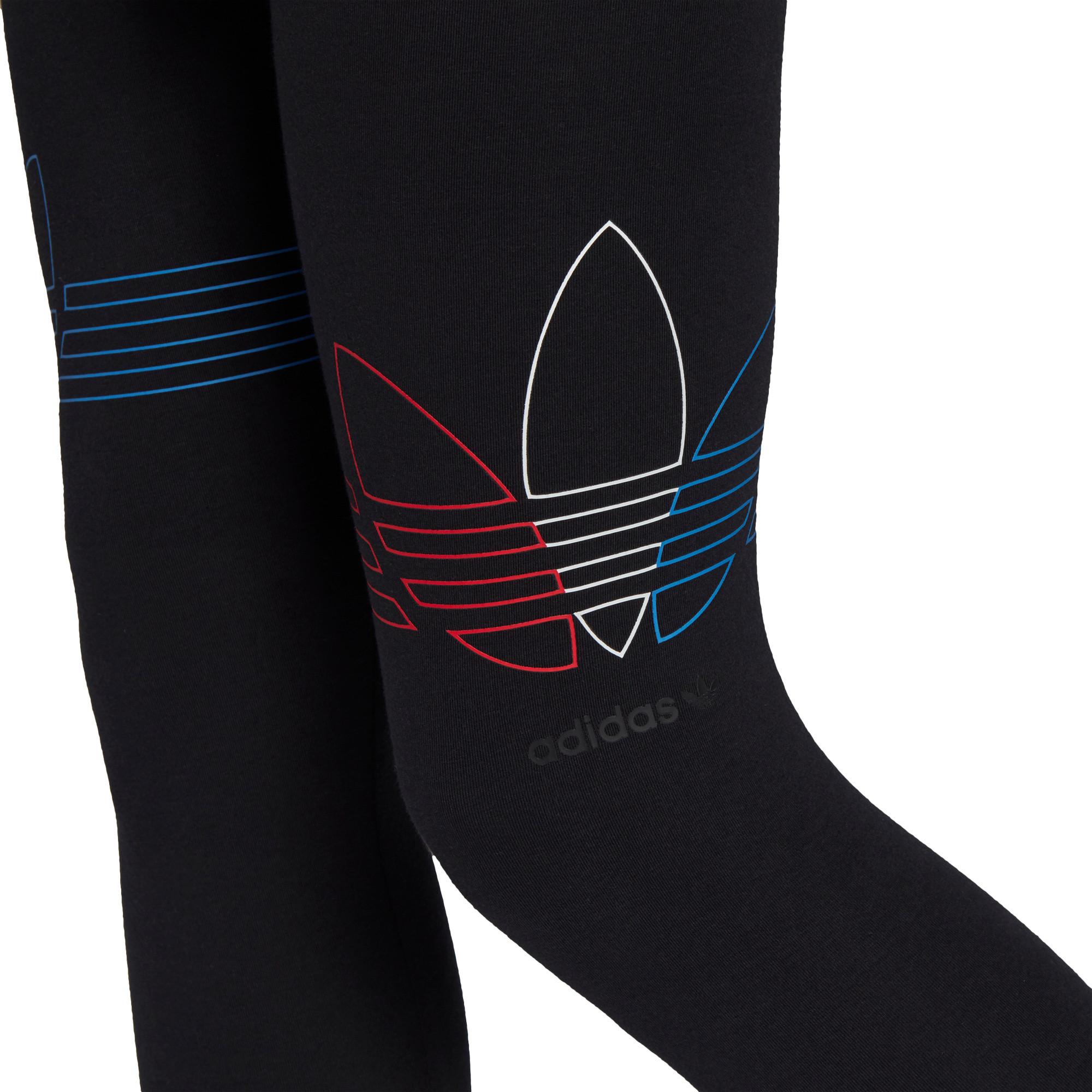 Leggings Loungewear adicolor Tricolor, Nero, large image number 4