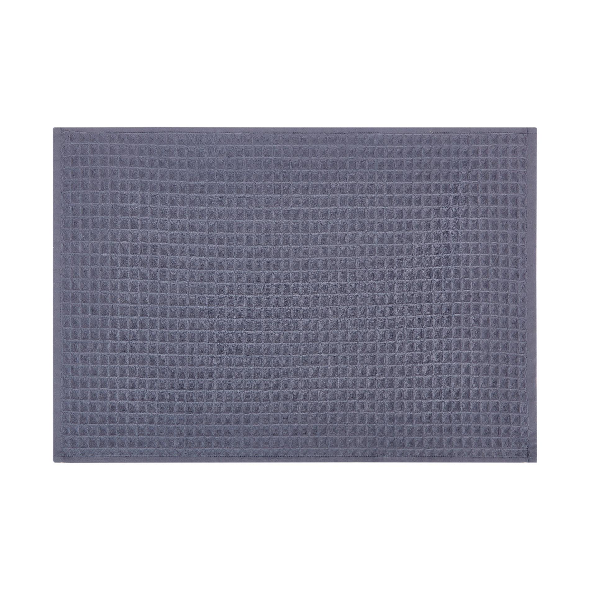 Set 2 asciugamani puro cotone nido d'ape tinta unita, Blu, large image number 1