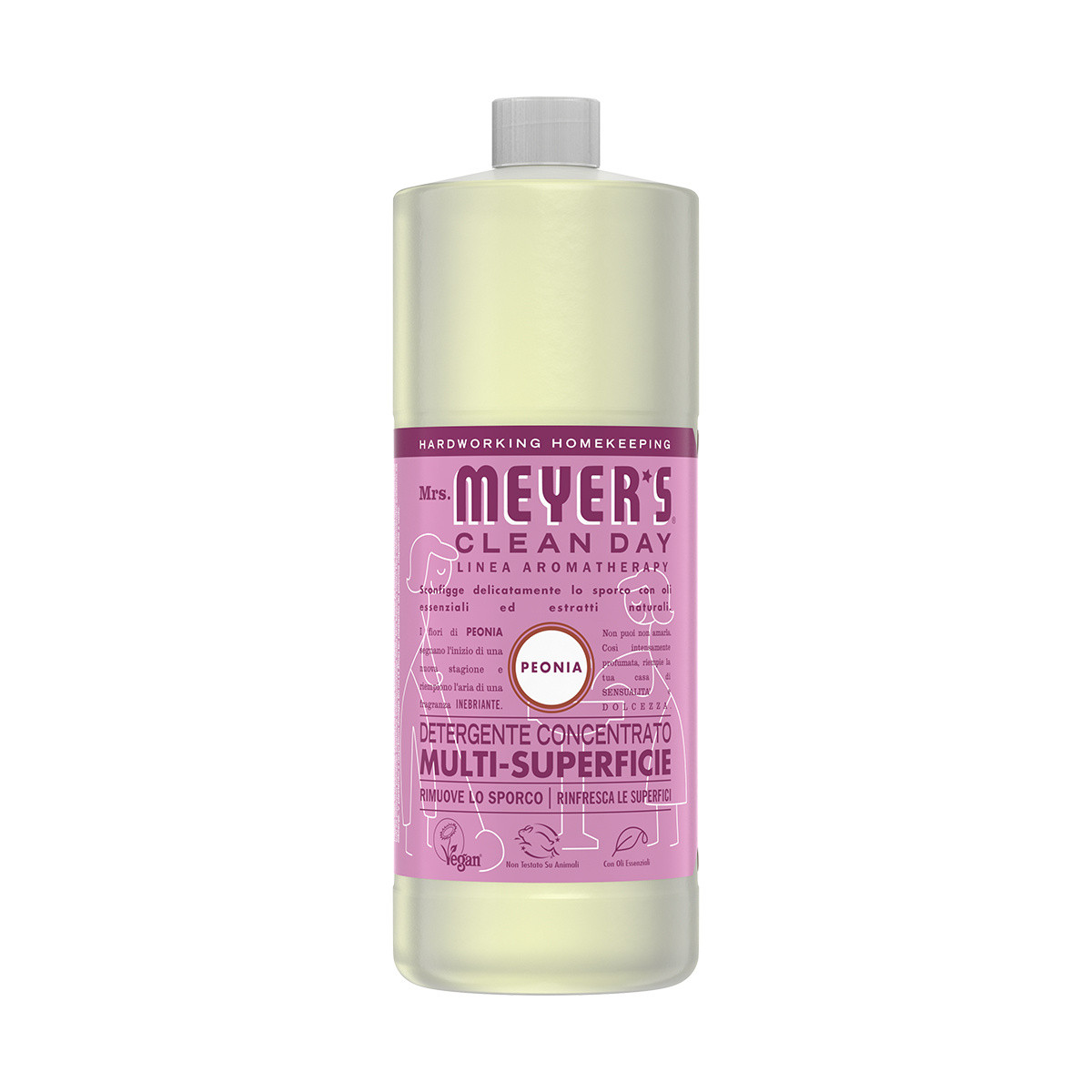 Detergente concentrato multi-supericie profumo di peonia 946ml, Rosa, large image number 0