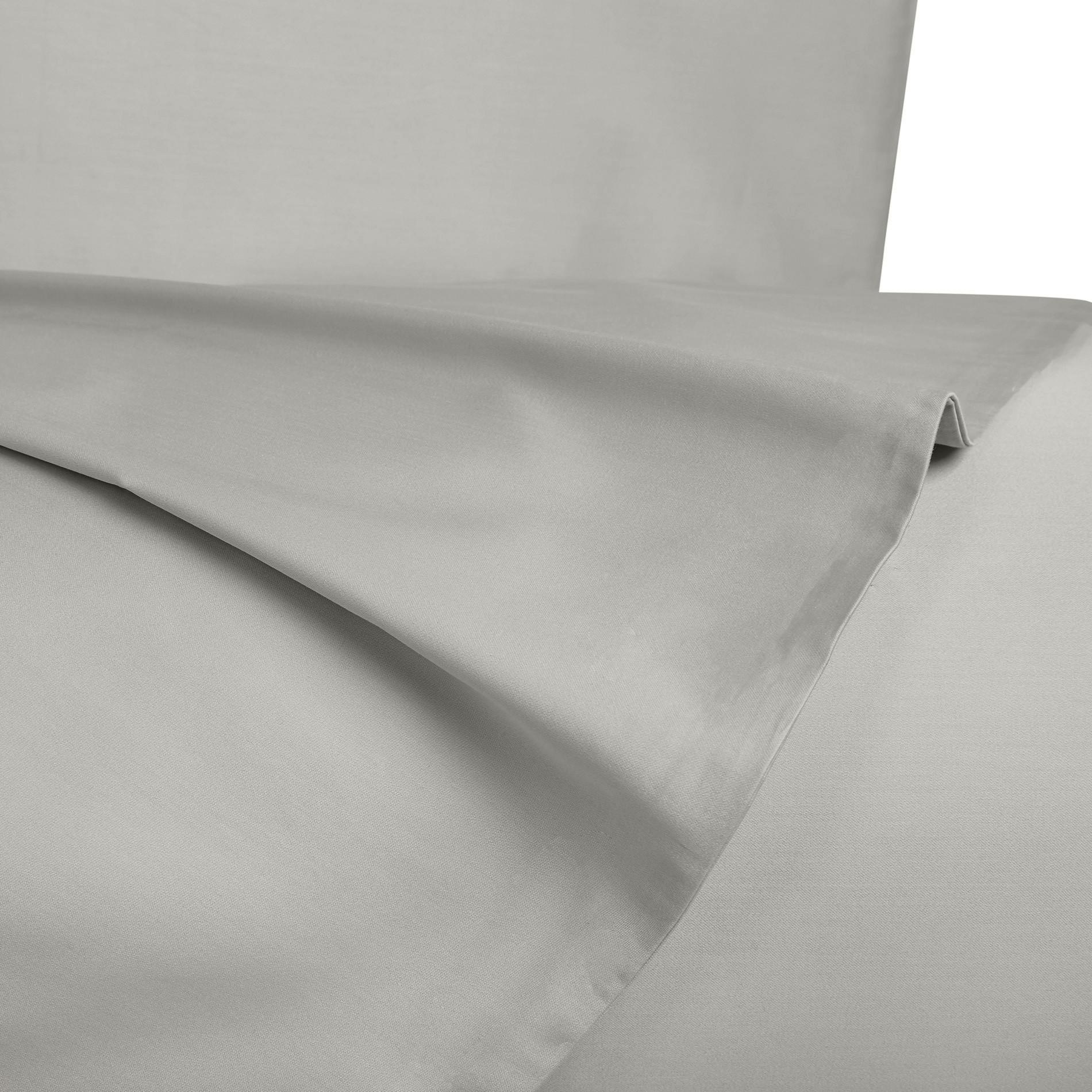 Parure letto raso di puro cotone Zefiro, Grigio, large image number 1