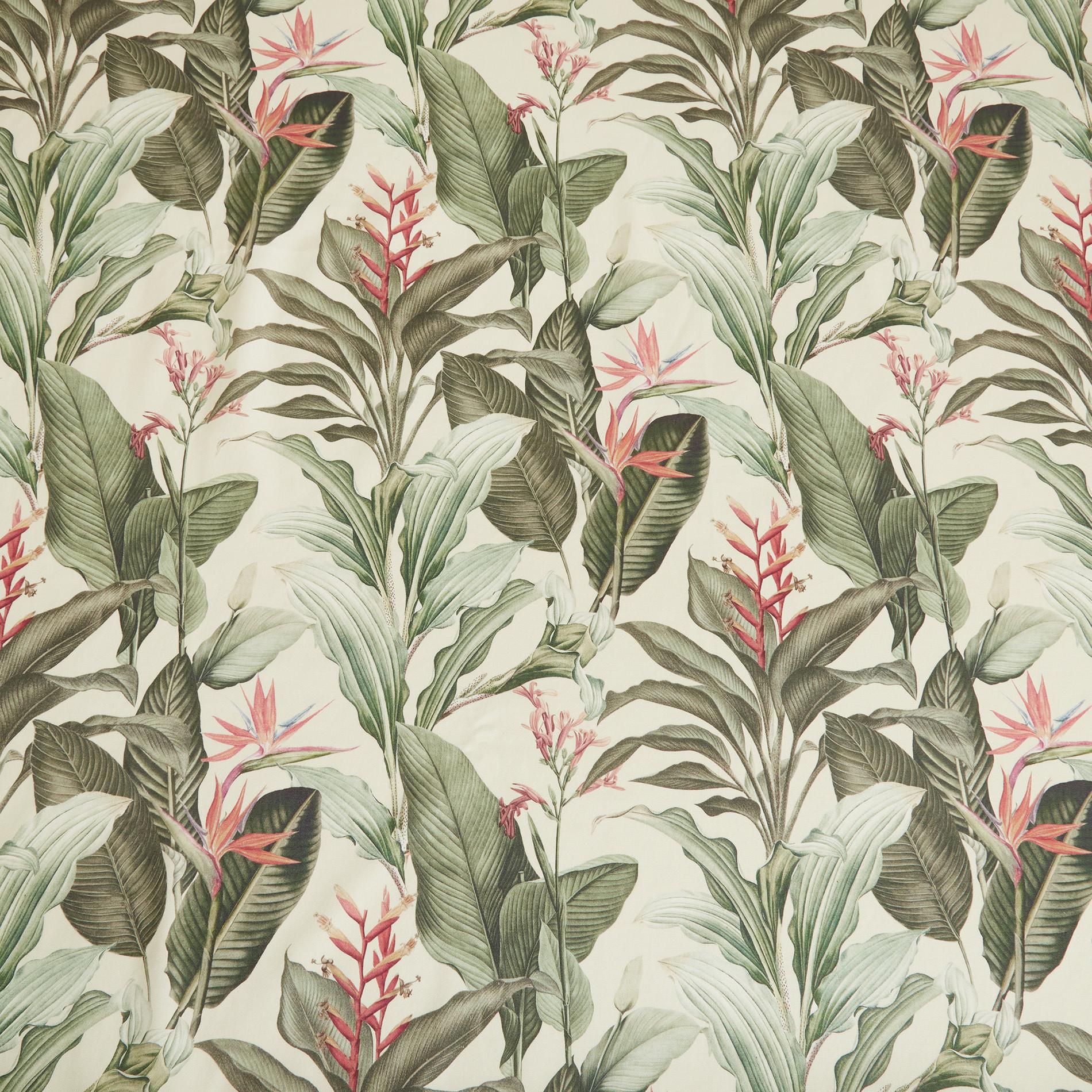 Tovaglia puro cotone stampa giungla, Beige, large image number 1