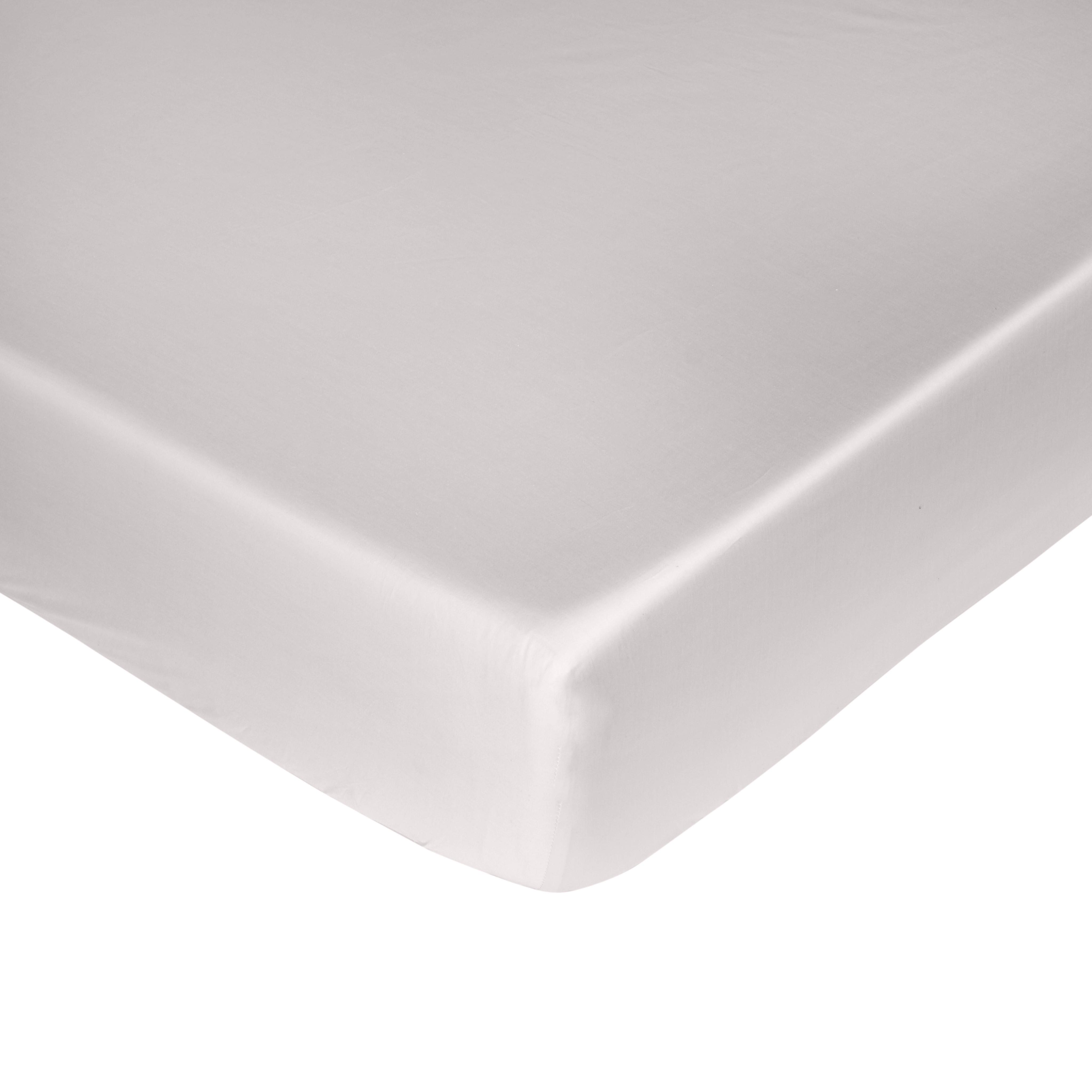 Lenzuolo angoli raso alta qualità Interno 11, Grigio perla, large image number 0