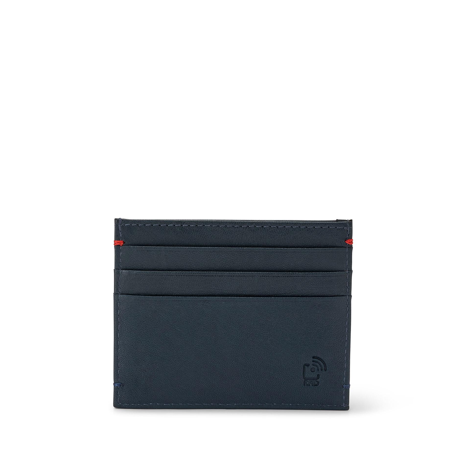 Porta carte di credito in pelle Luca D'Altieri, Blu, large image number 2