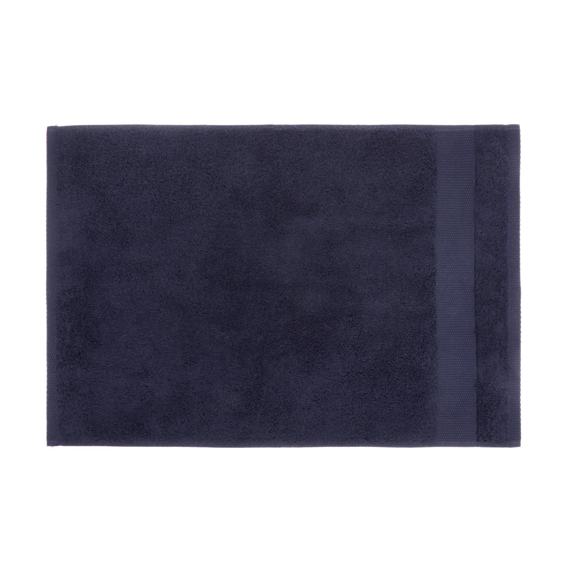 Asciugamano spugna di puro cotone Zefiro, Blu scuro, large image number 2