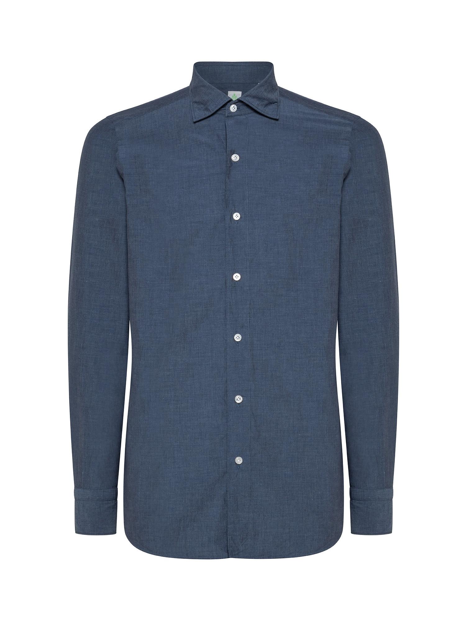 Camicia uomo slim fit, Denim, large image number 0