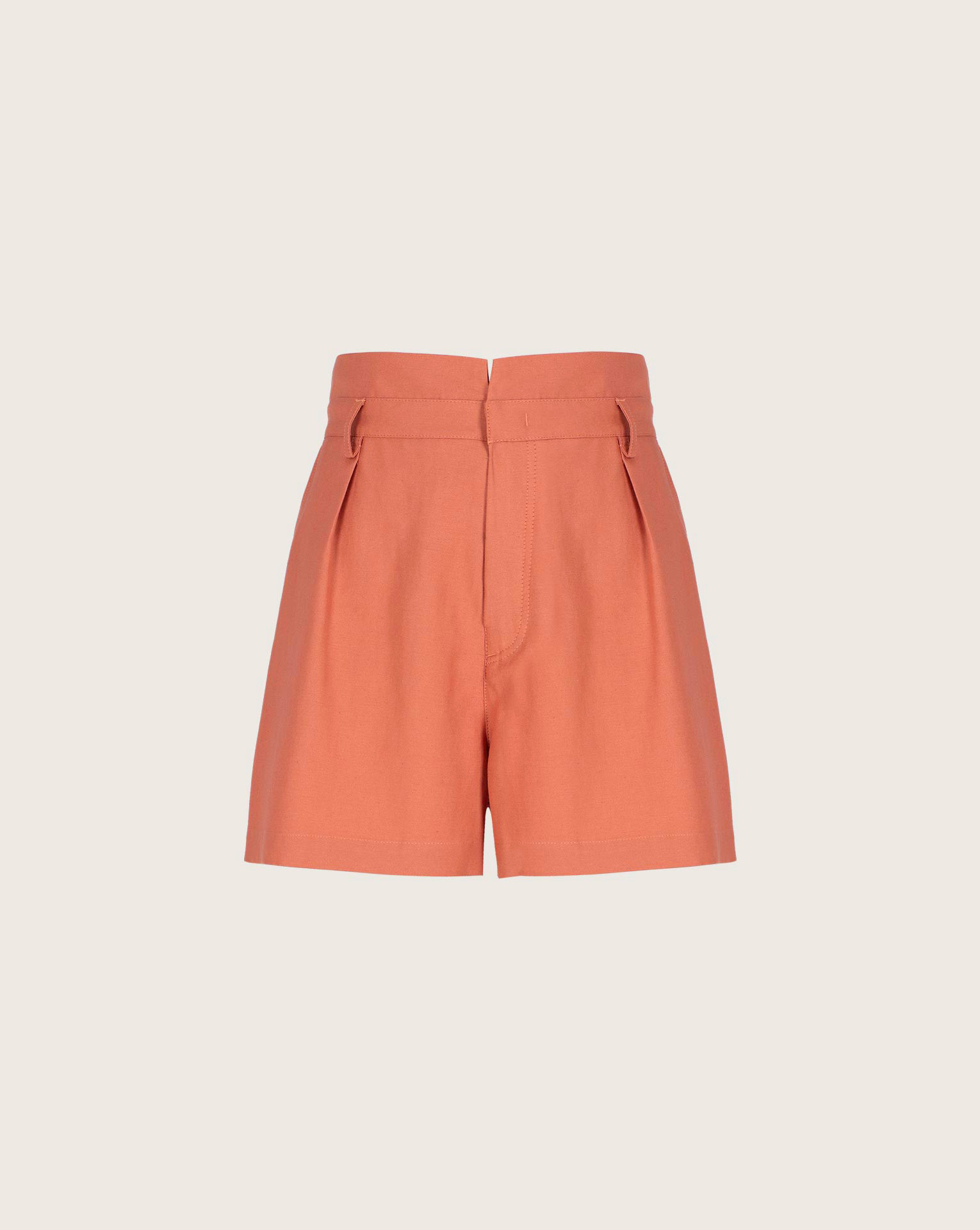 Shorts in shantung Ginger, Marrone, large image number 0