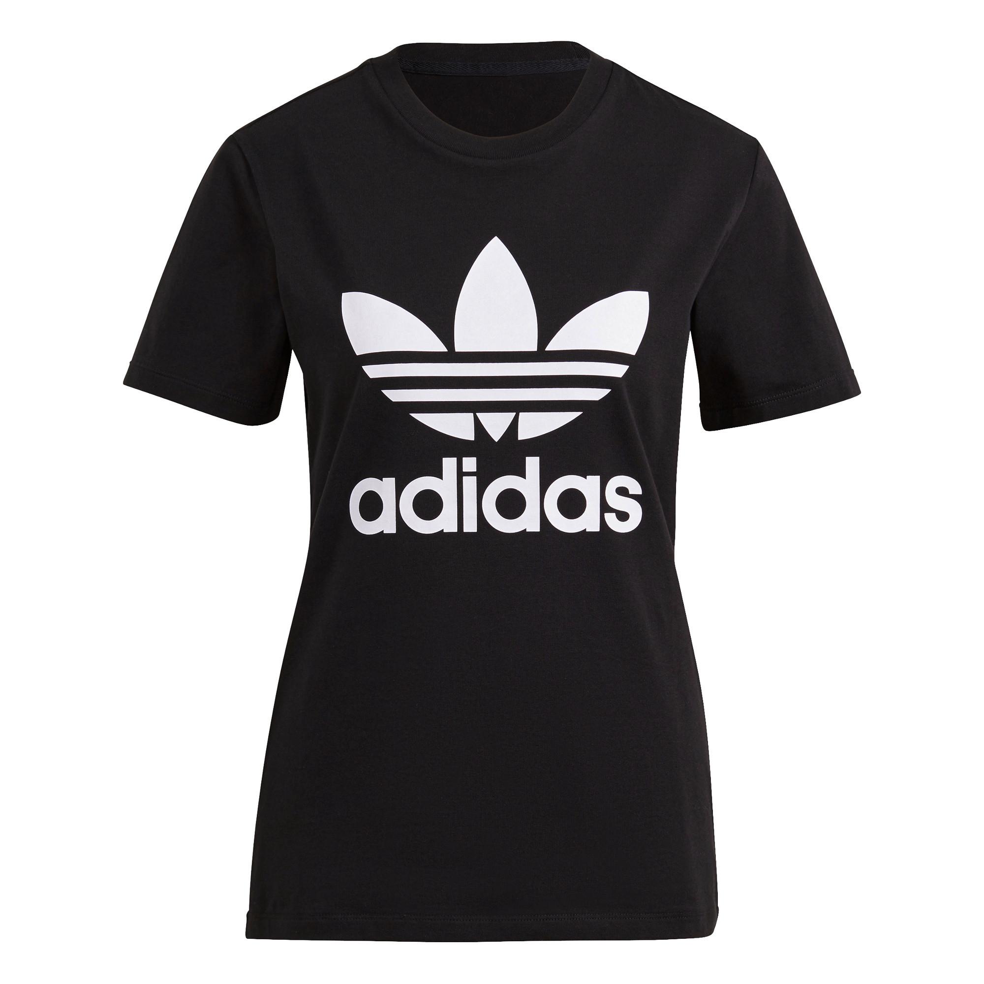 T-shirt adicolor Classics Trefoil, Nero, large image number 0