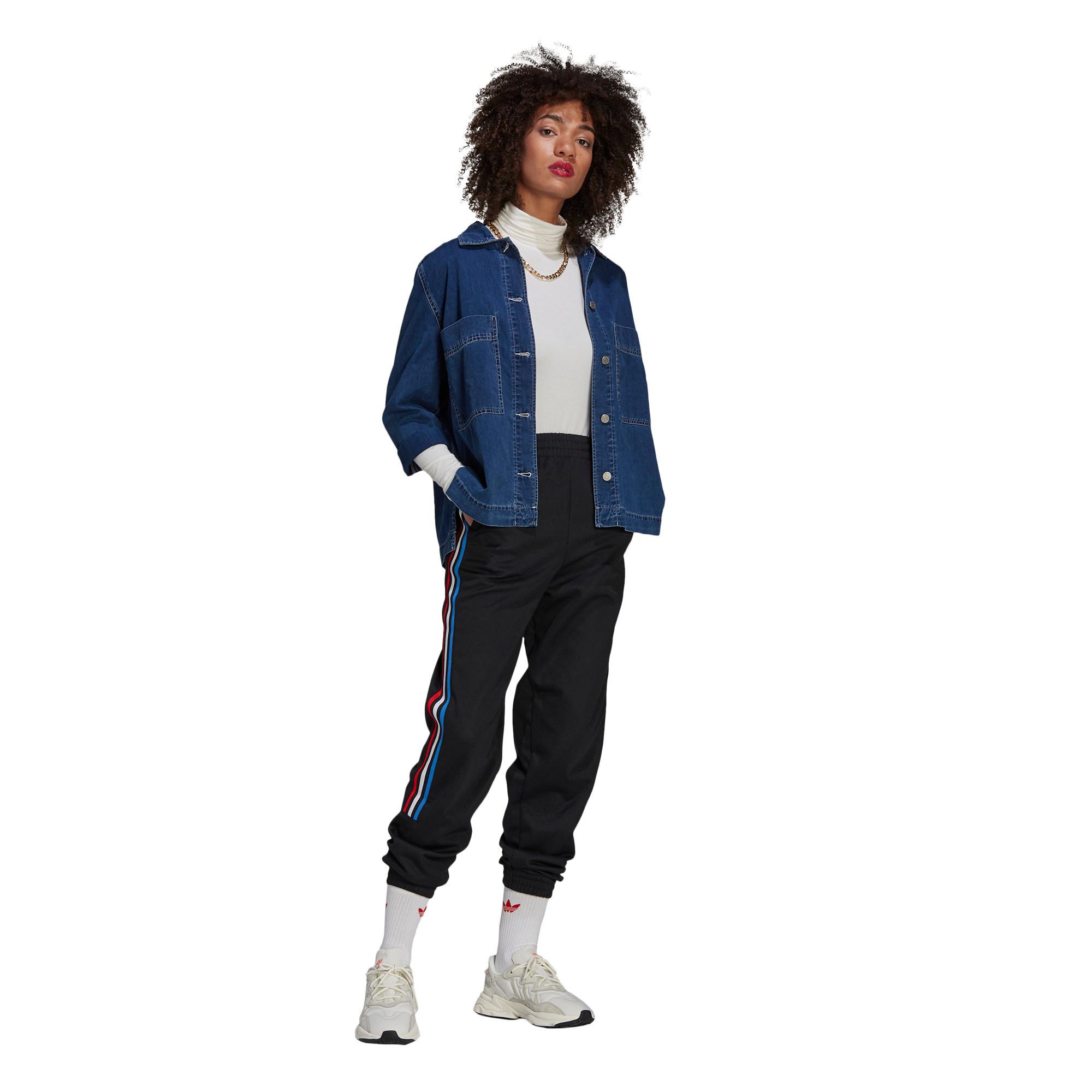 Pantaloni tuta adicolor Tricolor Primeblue, Nero, large image number 6