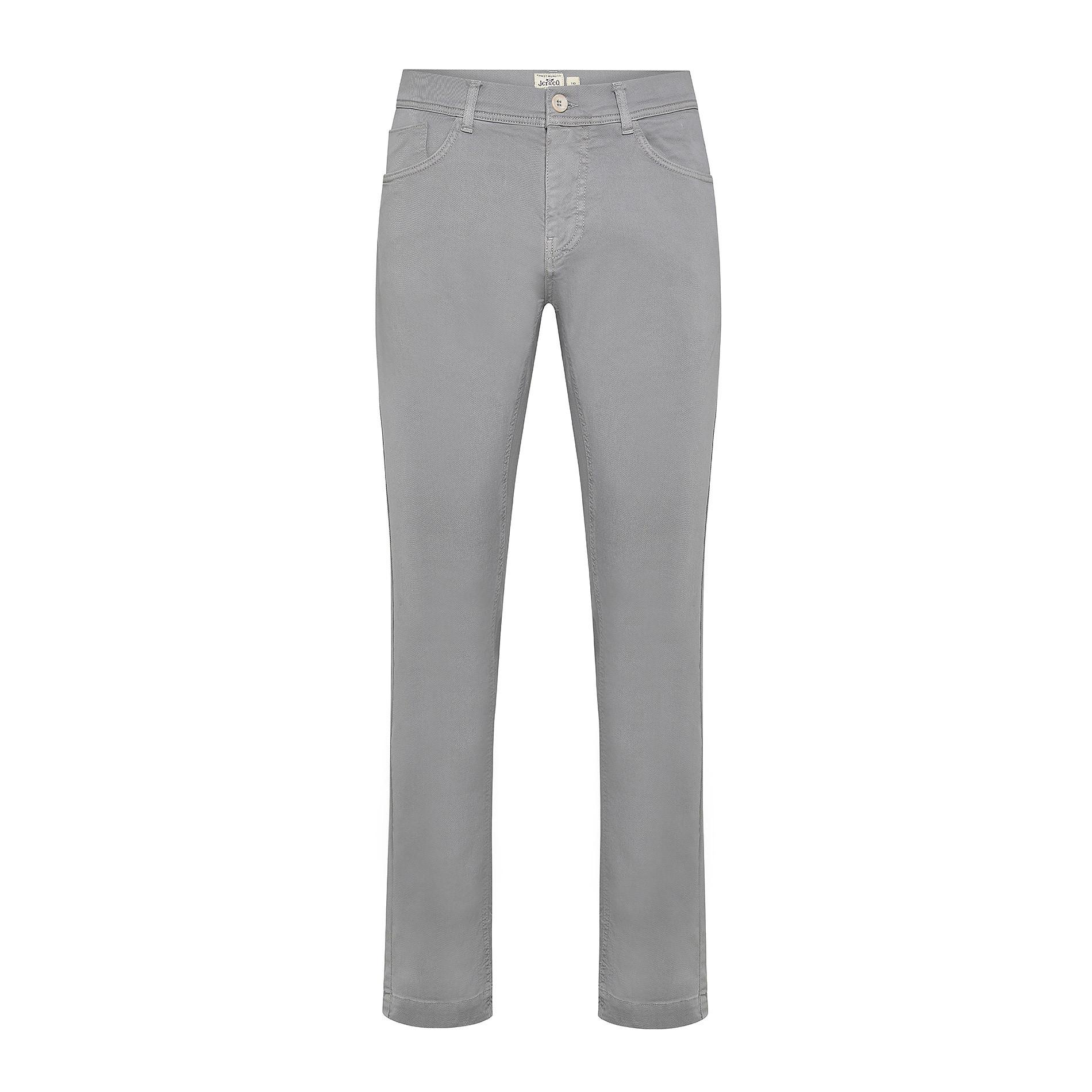 Pantalone cotone stretch 5 tasche JCT, Grigio chiaro, large image number 0