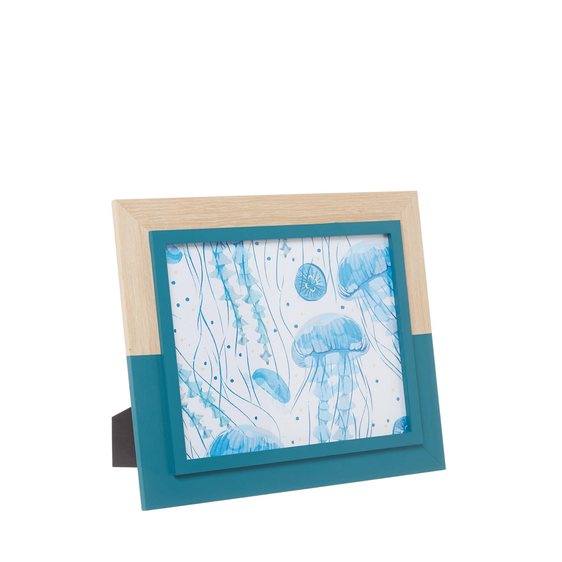 Portafoto cornice in legno, Azzurro, large image number 0