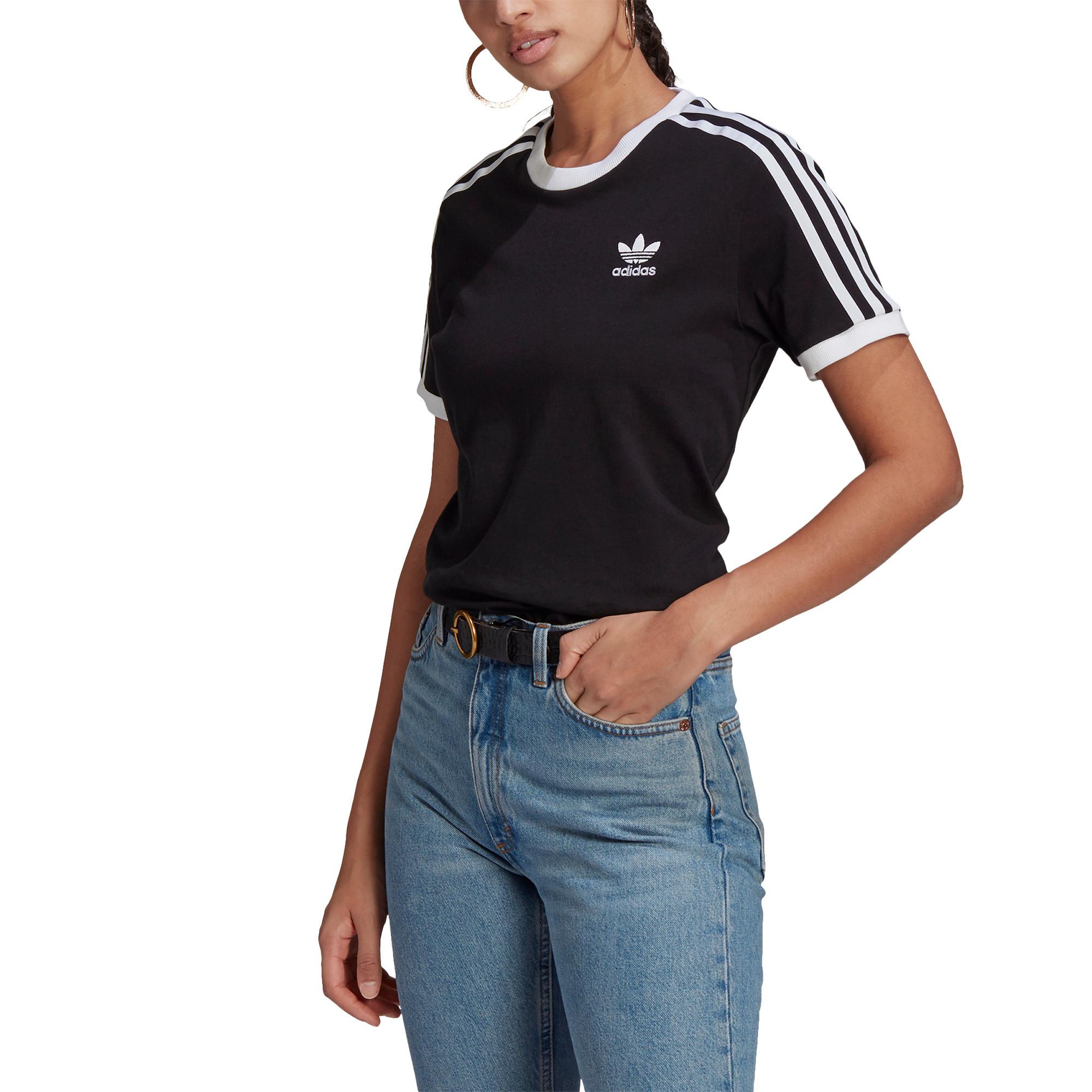 T-shirt adicolor Classics 3-stripes, Nero, large image number 4