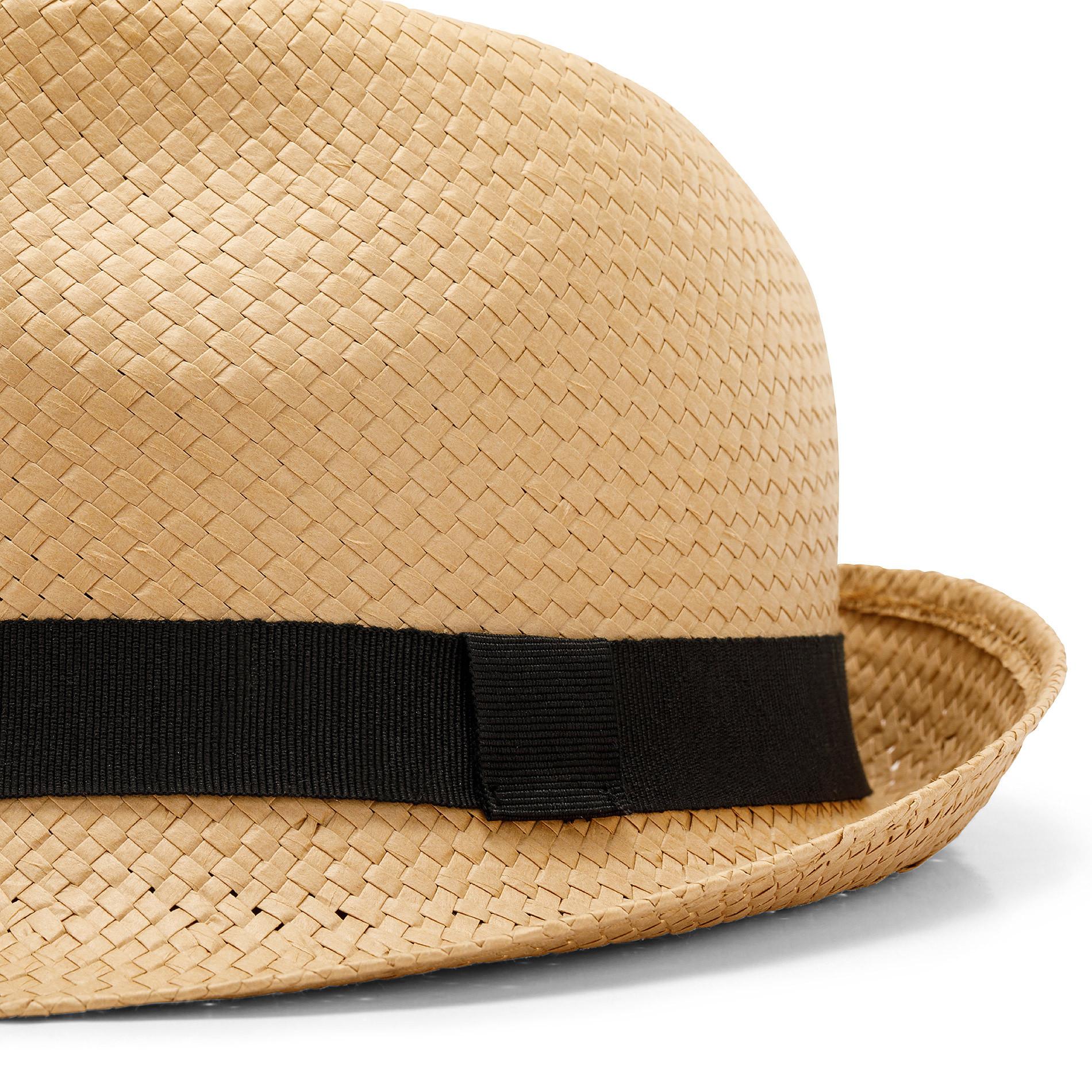 Cappello paglia intrecciata Luca D'Altieri, Beige, large image number 1