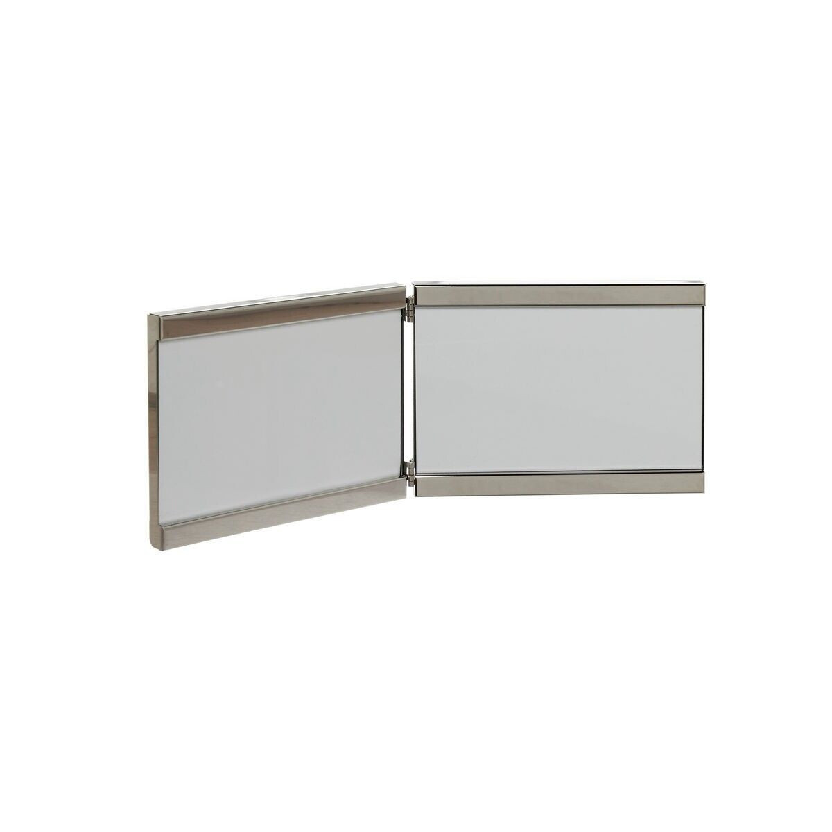 Portafoto silver plated a due frame, Grigio argento, large image number 0