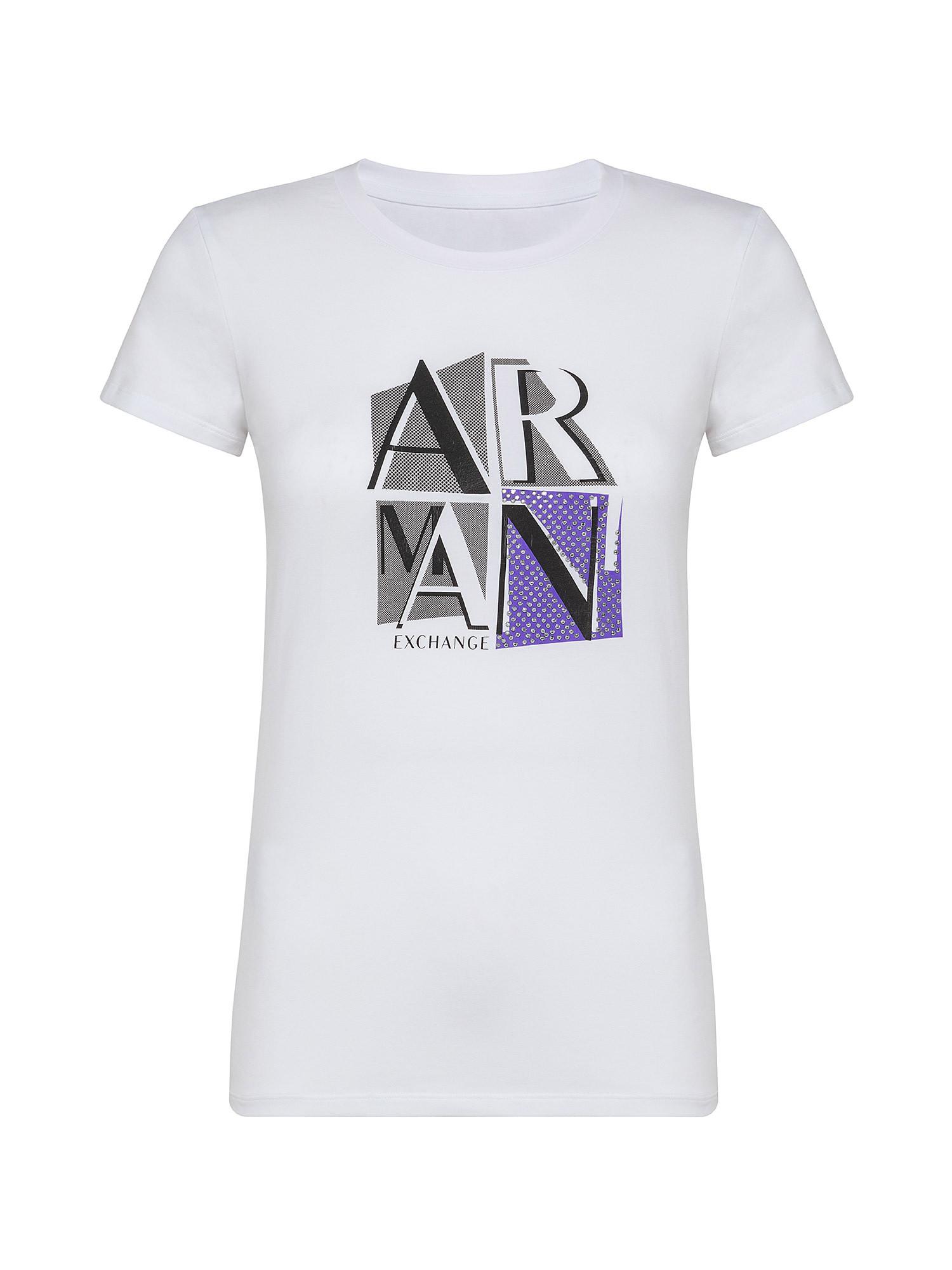 T-shirt slim fit, Bianco, large image number 0