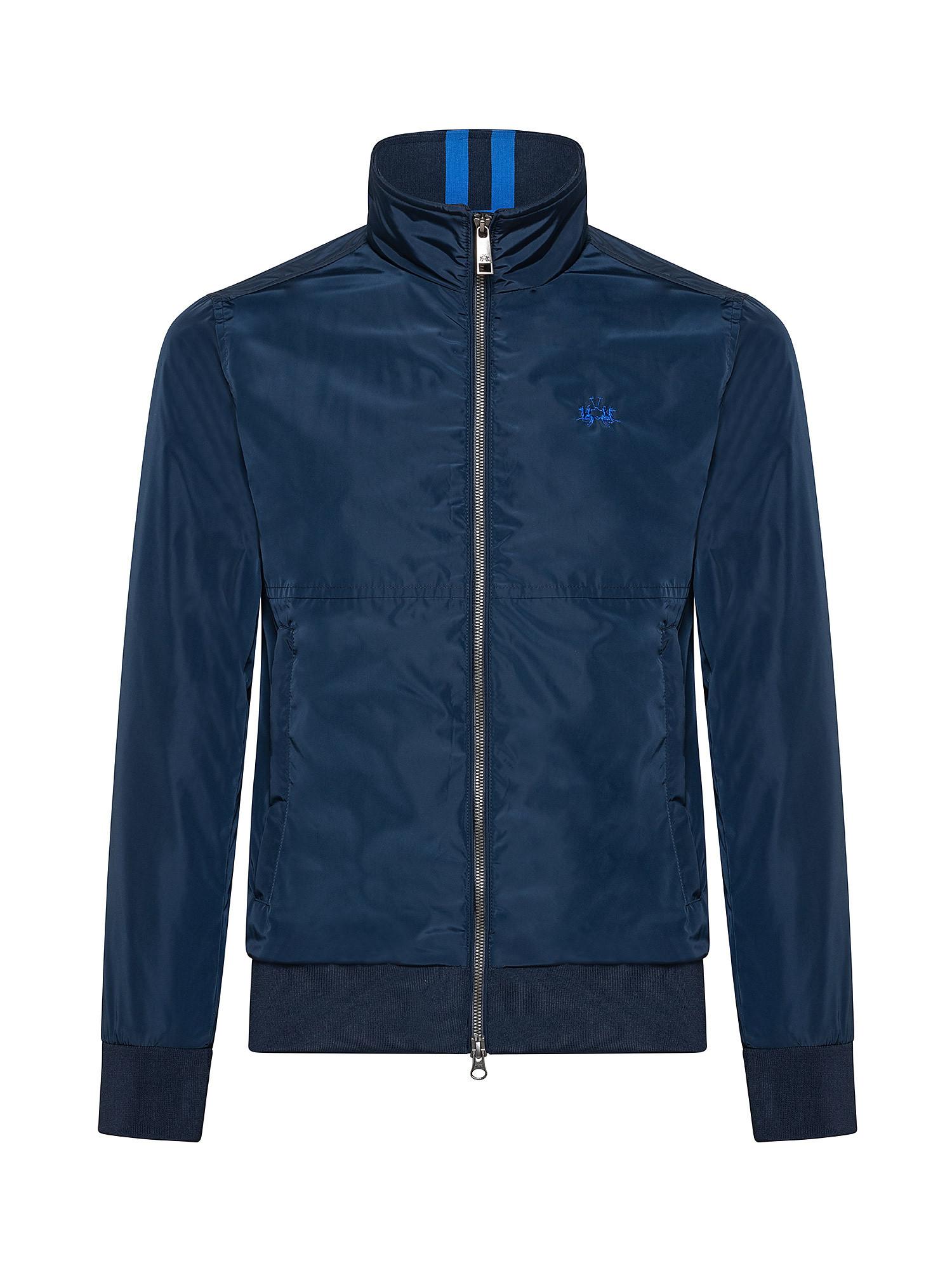 Giacca da uomo antivento regular fit, Blu, large image number 0