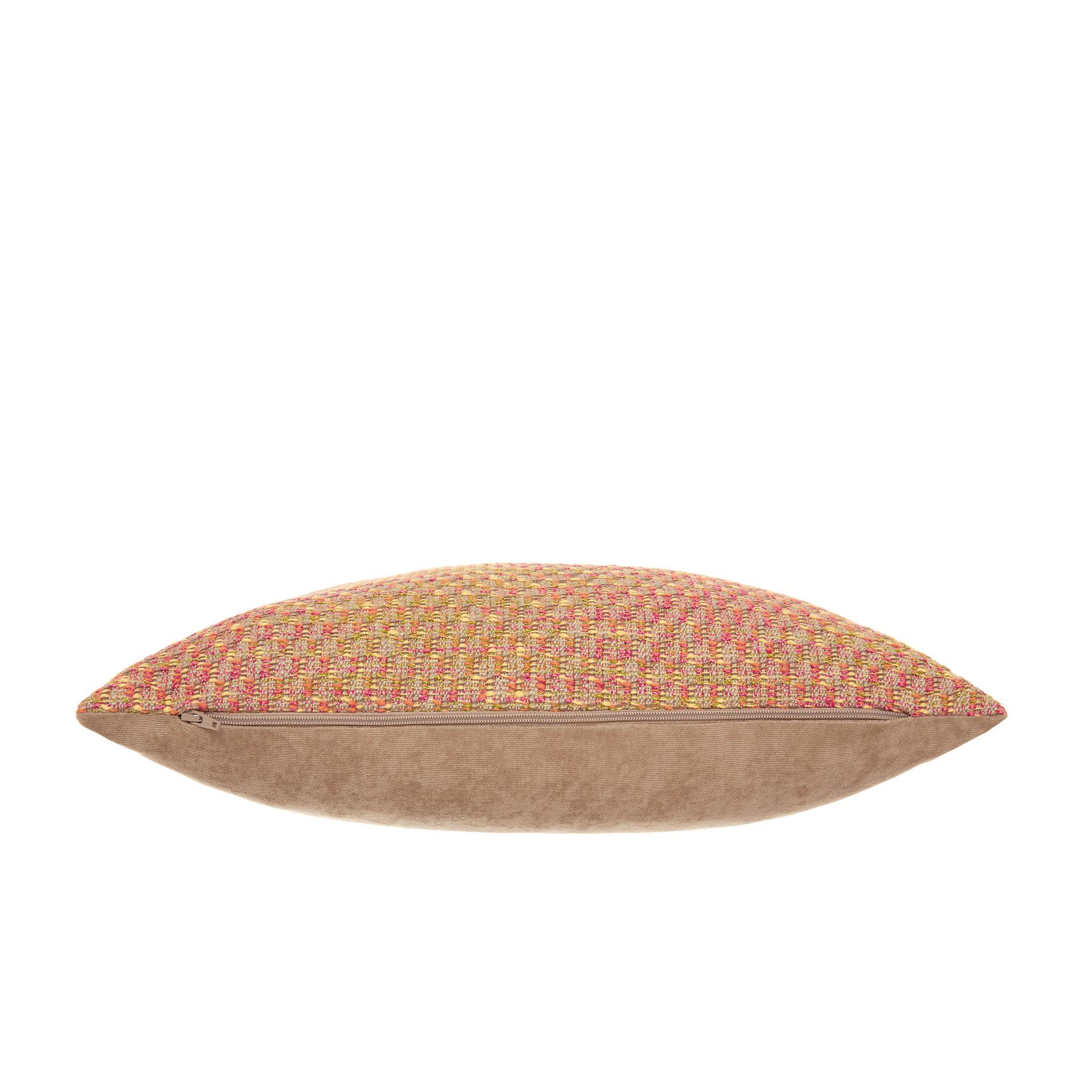 Cuscino jacquard motivo multicolore 43x43cm, Beige scuro, large image number 2