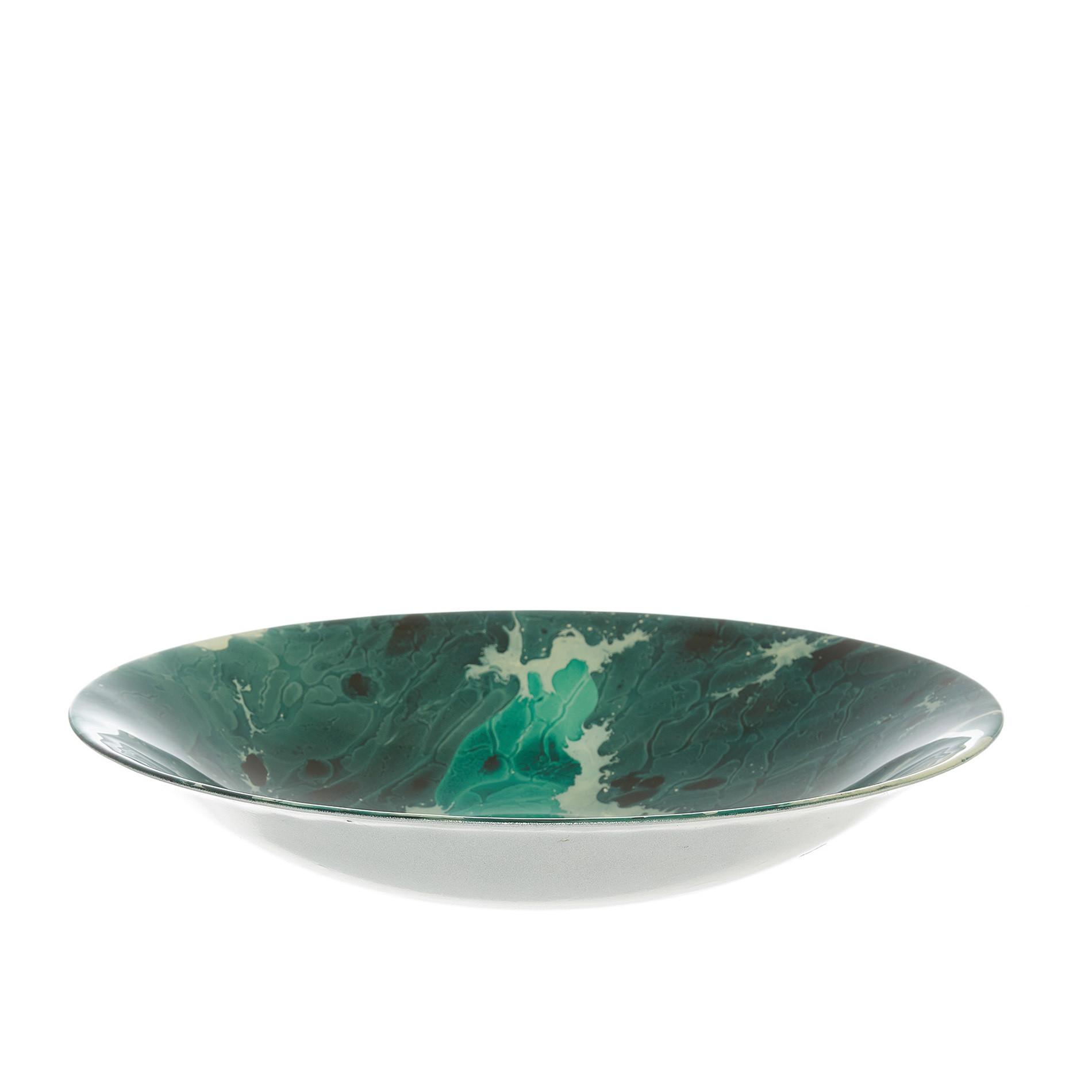 Coppa vetro spruzzato, Verde scuro, large image number 0