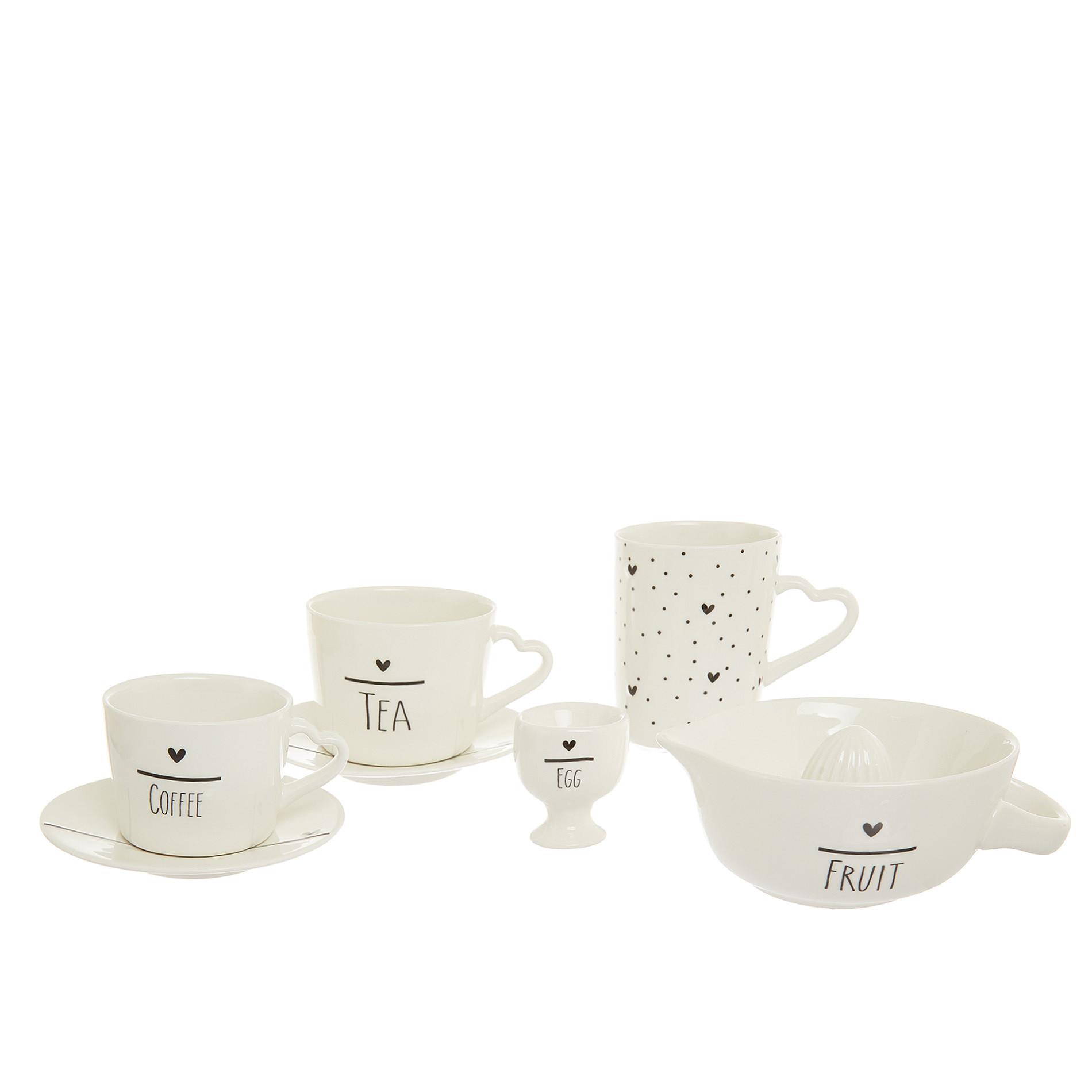 Mug porcellana cuori, Bianco, large image number 1