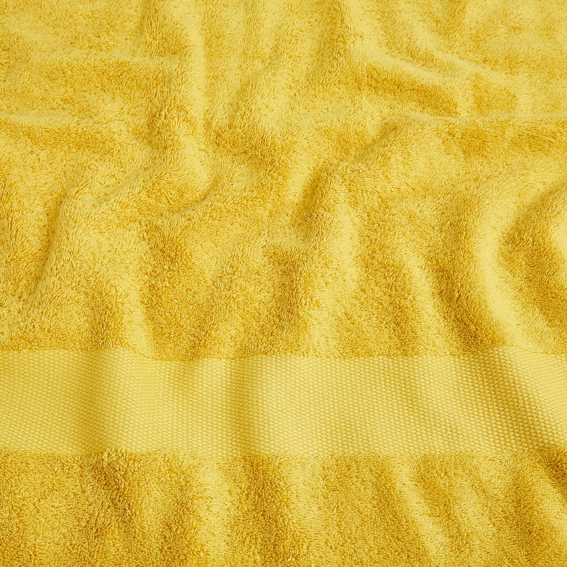 Asciugamano spugna di puro cotone Zefiro, Giallo senape, large image number 3