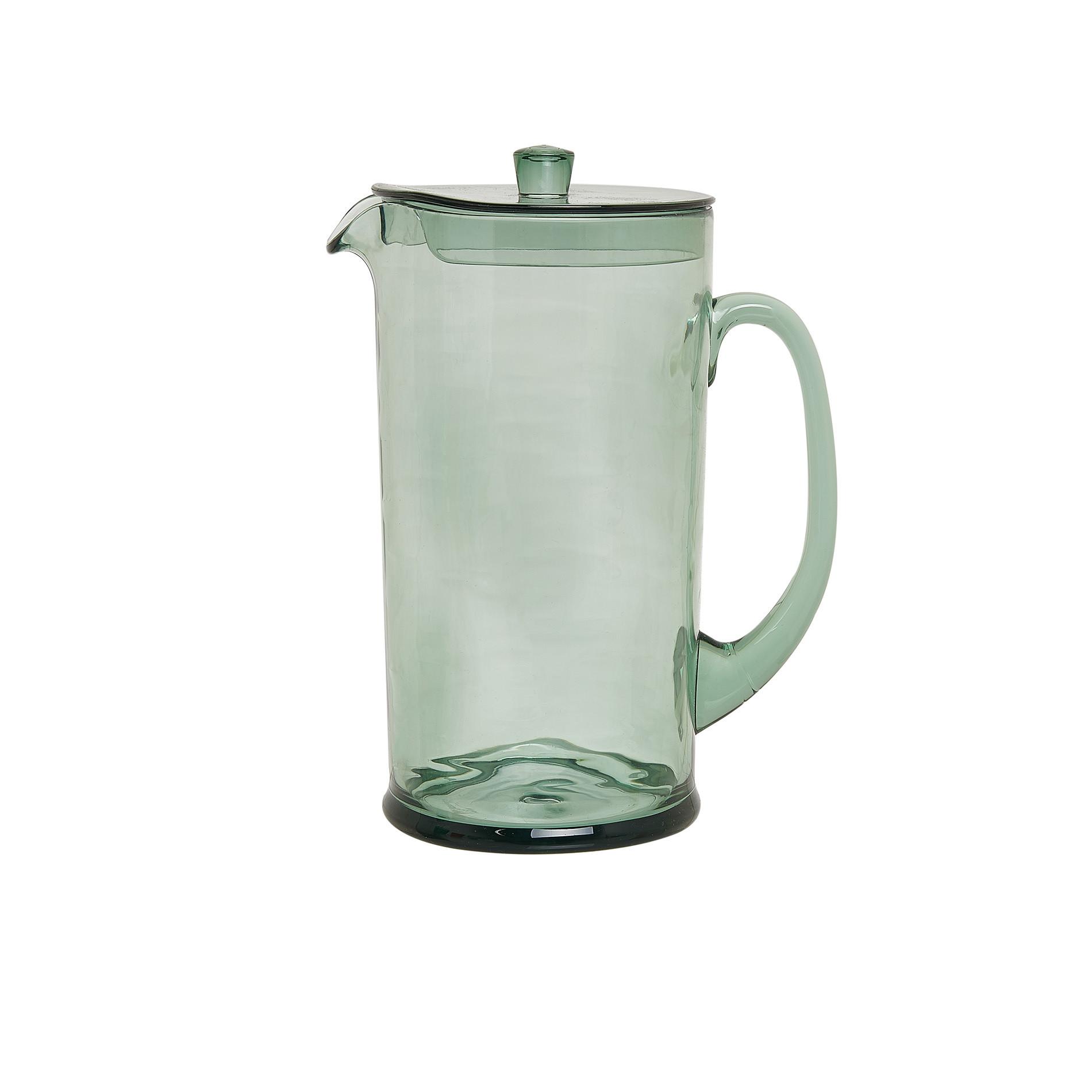 Caraffa plastica trasparente, Verde chiaro, large image number 0