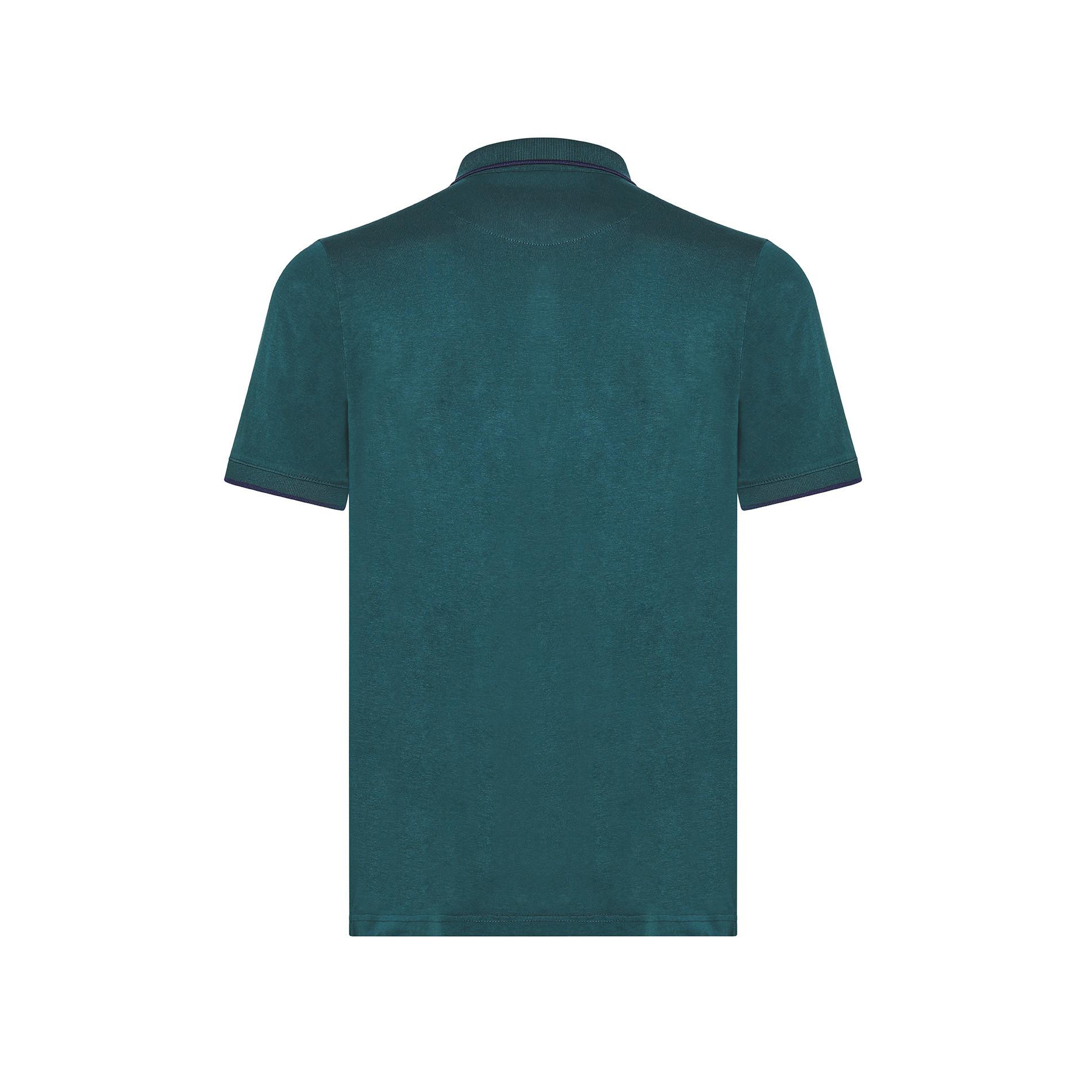 Polo cotone jersey Luca D'Altieri, Verde scuro, large image number 1