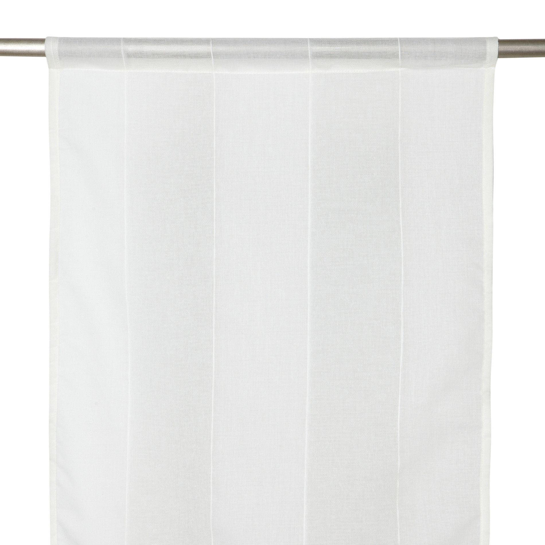 Tendina strisce verticali, Bianco, large image number 2