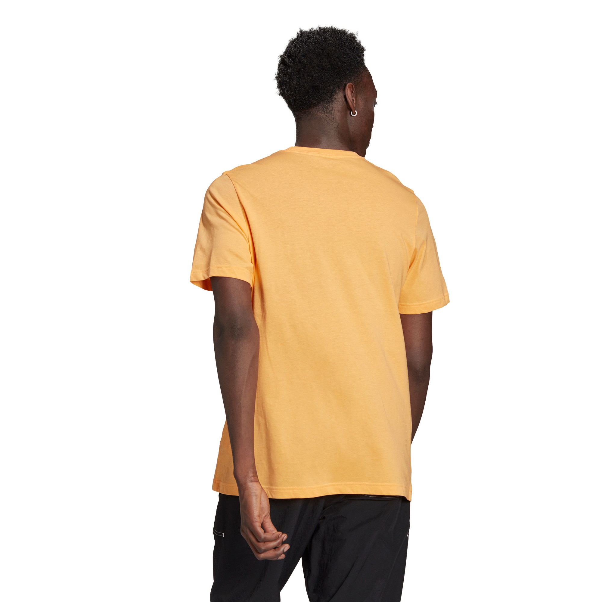 T-shirt loungewear adicolor trefoil essentials, Arancione, large image number 3