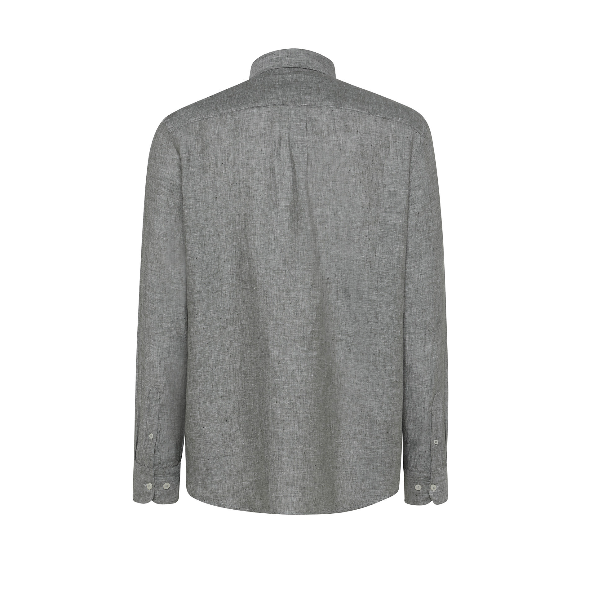 Camicia puro lino tailor fit Luca D'Altieri, Verde opale, large image number 1