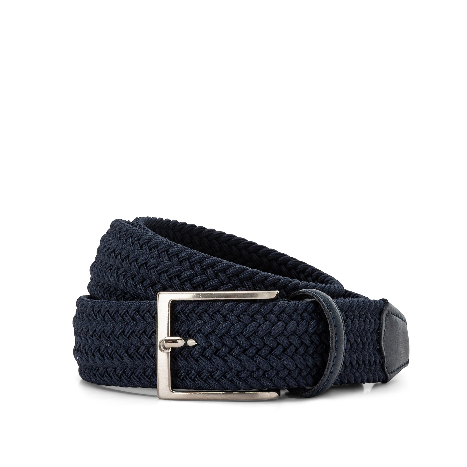 Cintura elasticizzata tinta unita Luca D'Altieri, Blu, large image number 0