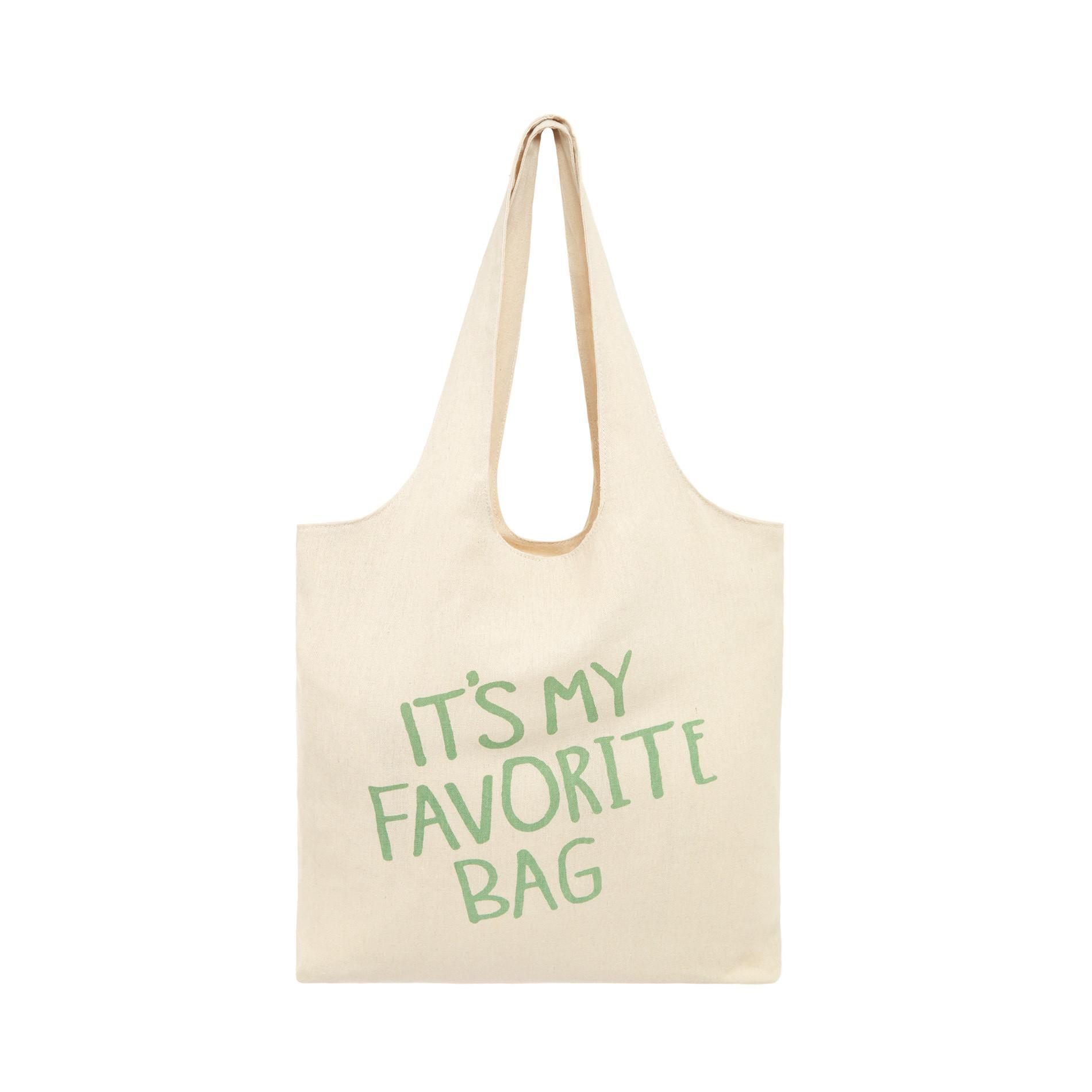 Shopper bag tessuto It's my favorite bag, Beige chiaro, large image number 0