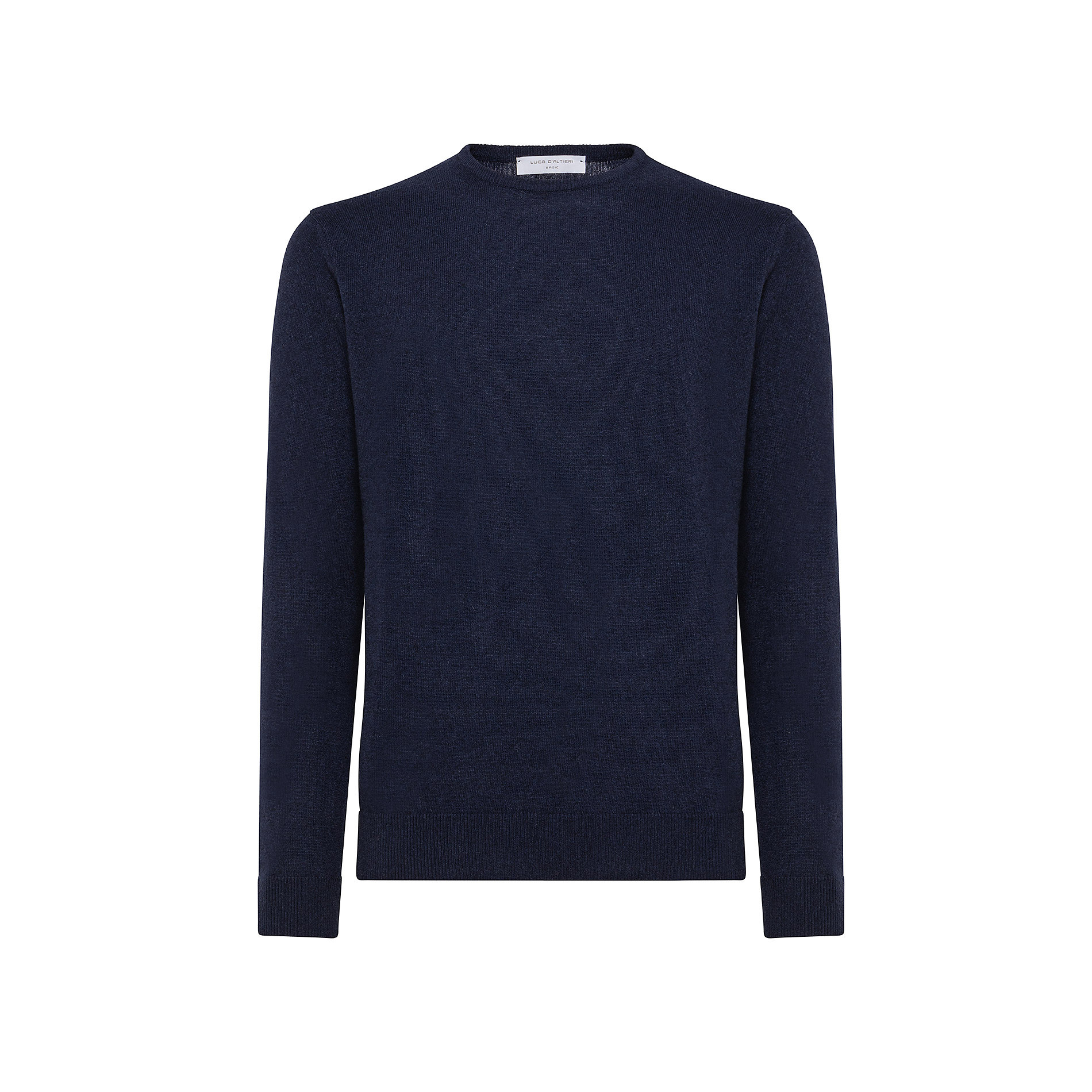 Pullover girocollo in cashmere blend, Blu, large image number 0