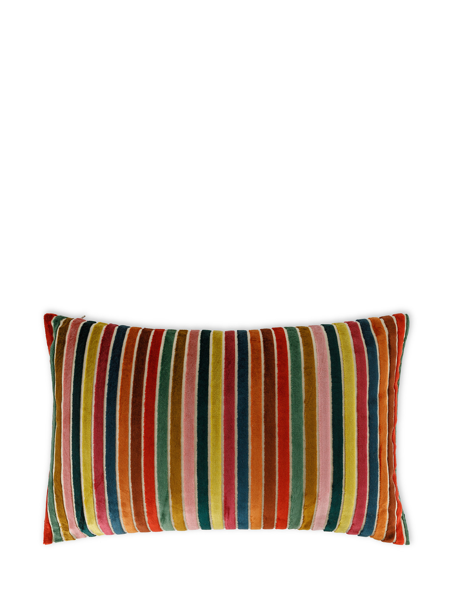 Cuscino jacquard a righe 35x55cm, Multicolor, large image number 0