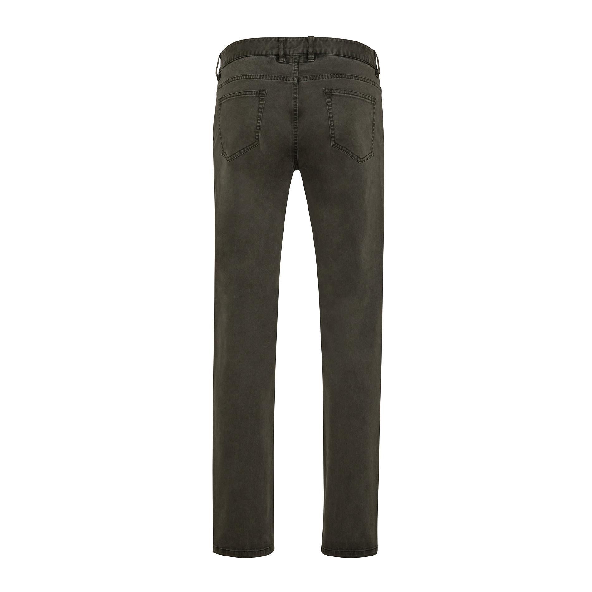 Pantaloni chino in tessuto stretch, Verde scuro, large image number 1